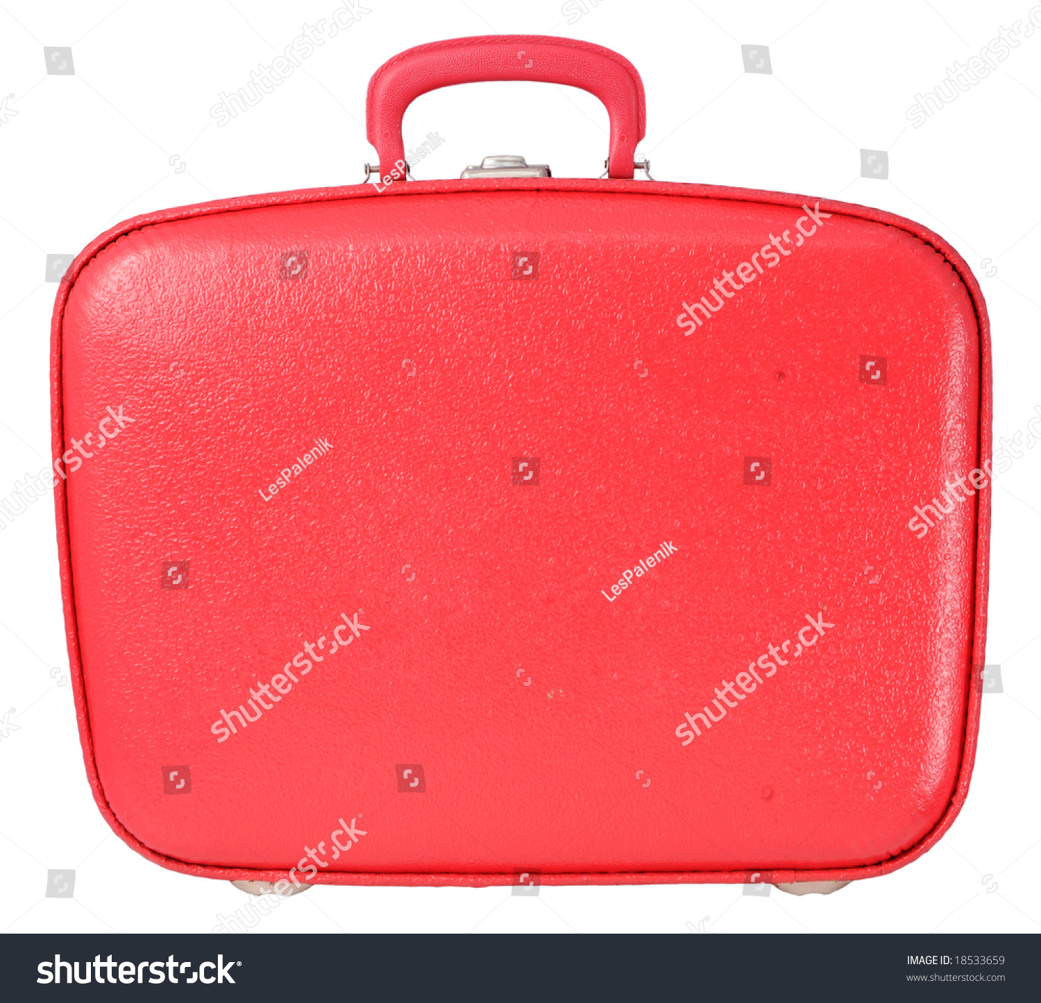 Red Vintage Suitcase Stock Photo 18533659 - Shutterstock