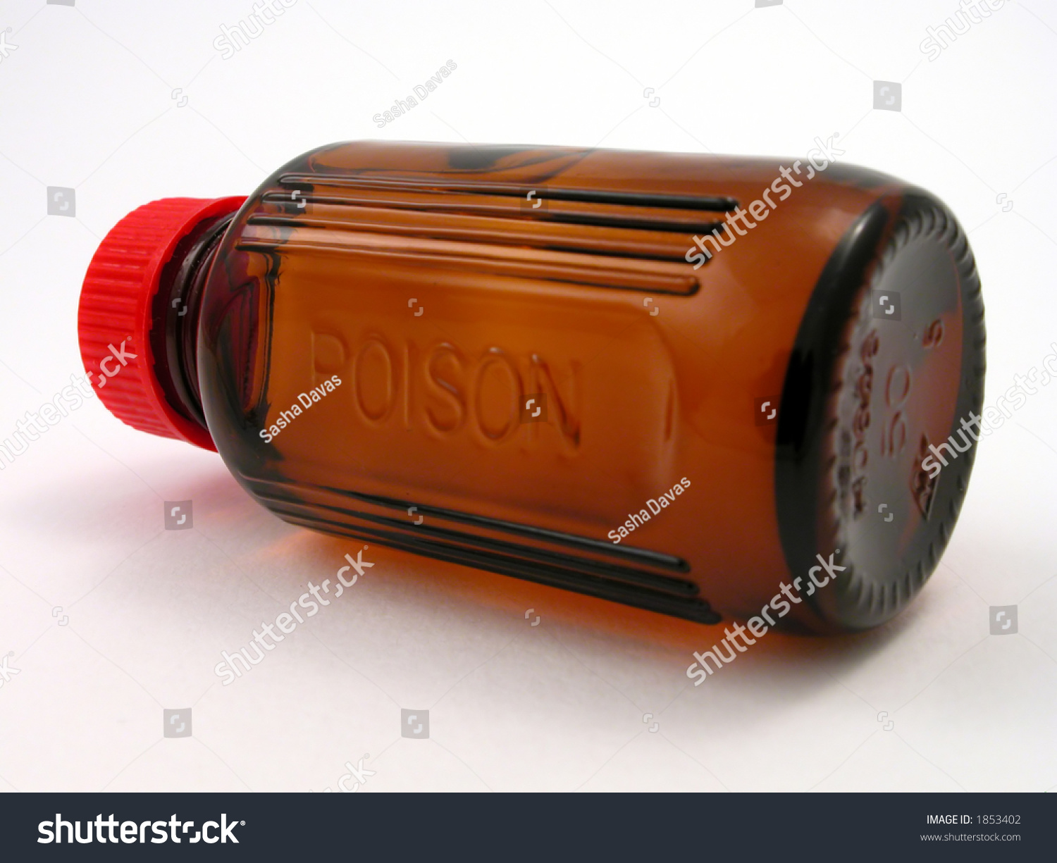 Small Poison Bottle With Red Cap Stock Photo 1853402 : Shutterstock
