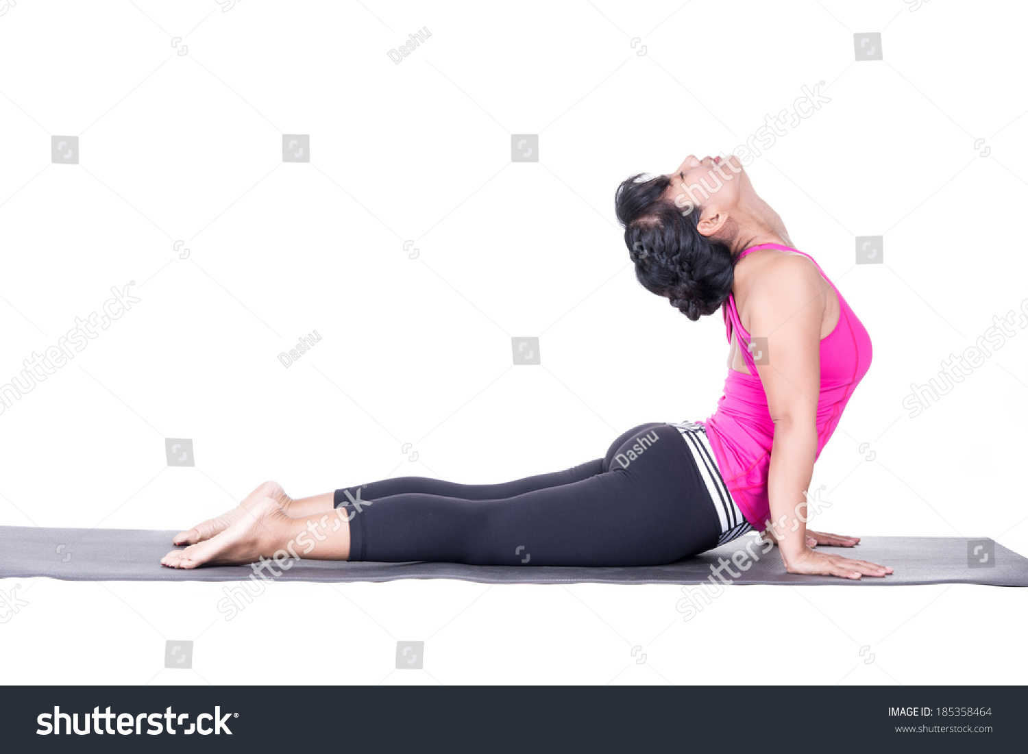 4ef07c9ca4 Asian woman beautiful yoga posing on a studio white background, woman  demonstrating difficult yoga posture