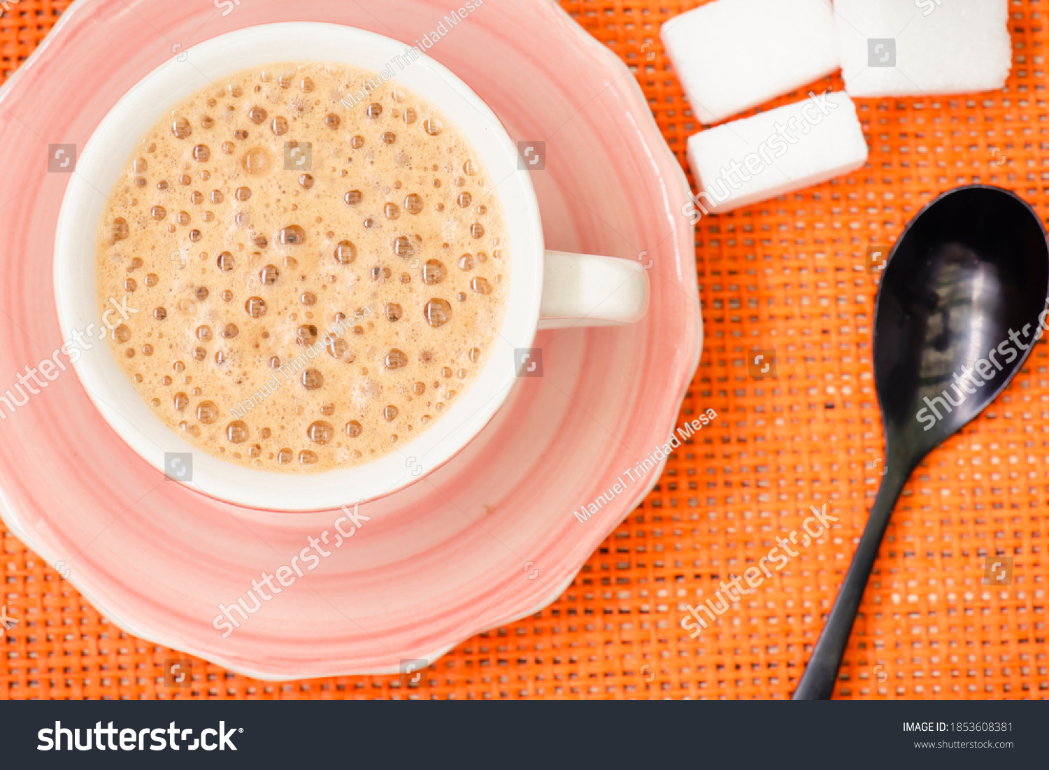 stock-photo-cup-of-latte-coffee-on-a-pin