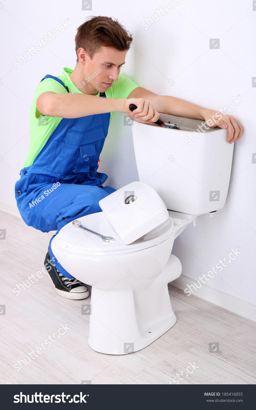Plumber Toilet Plunger On Light Background Stock Photo (Edit Now ...