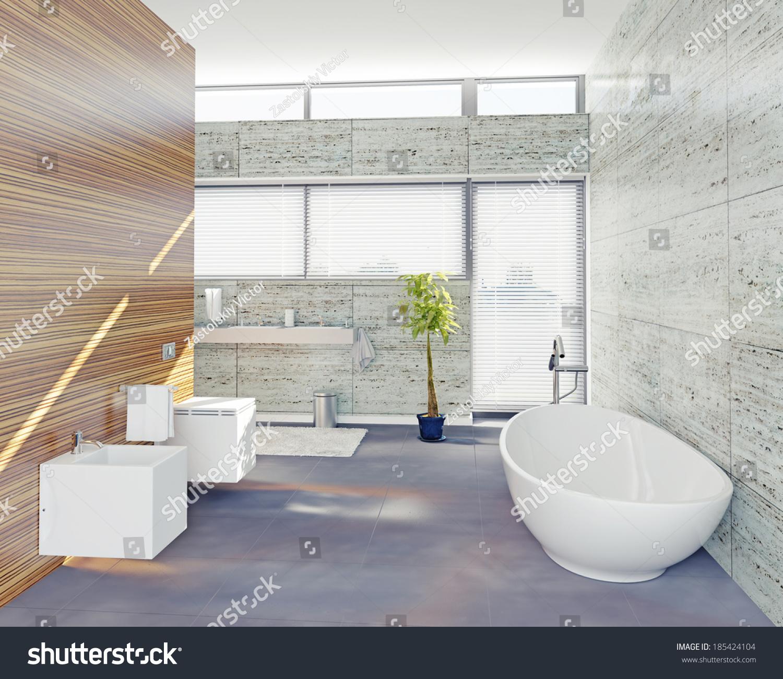 modern bathroom design (3D concept) | EZ Canvas