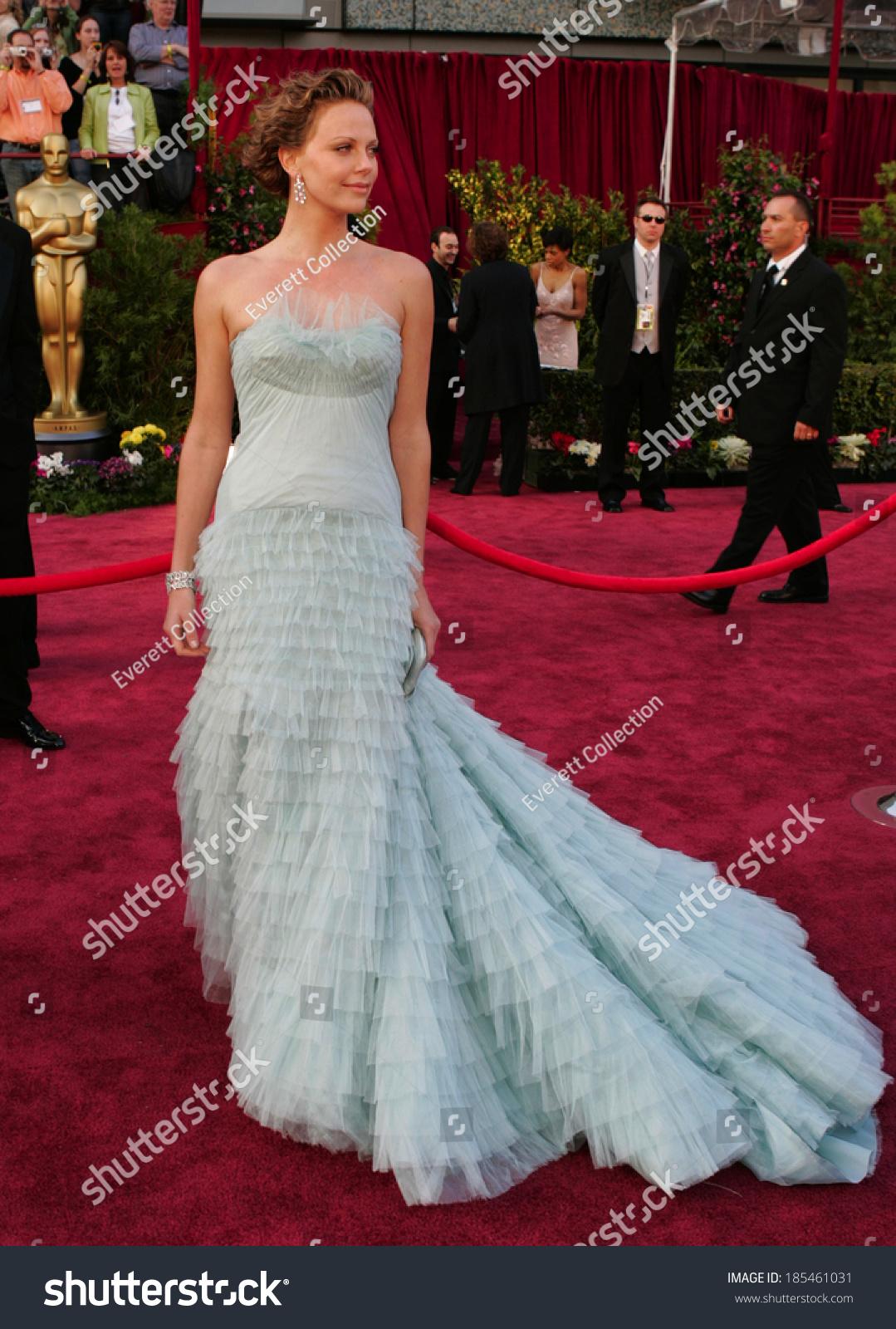 Charlize Theron John Galliano Dior Dress Stock Photo (Royalty Free ...
