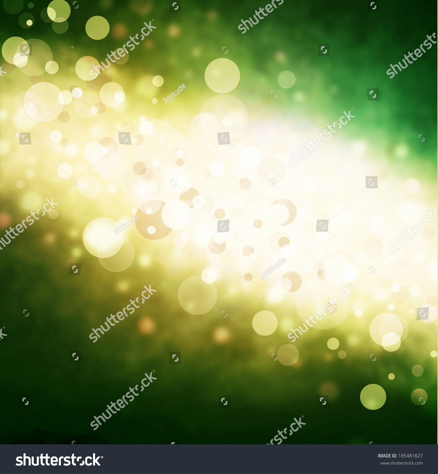 Abstract Green Gold Bubble Background Bright Stock Illustration ...