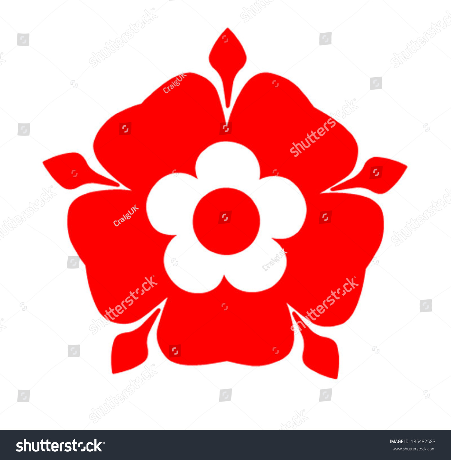 tudor rose tudor rose symbol lancashire stock vector 185482583 shutterstock. Black Bedroom Furniture Sets. Home Design Ideas