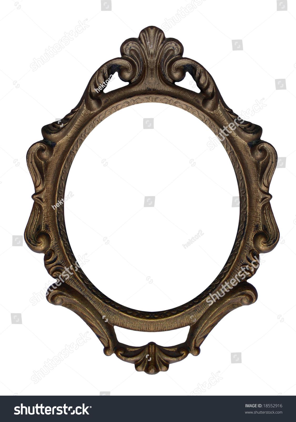 Massive Old Stylistic Mirror Frame Stock Photo 18552916