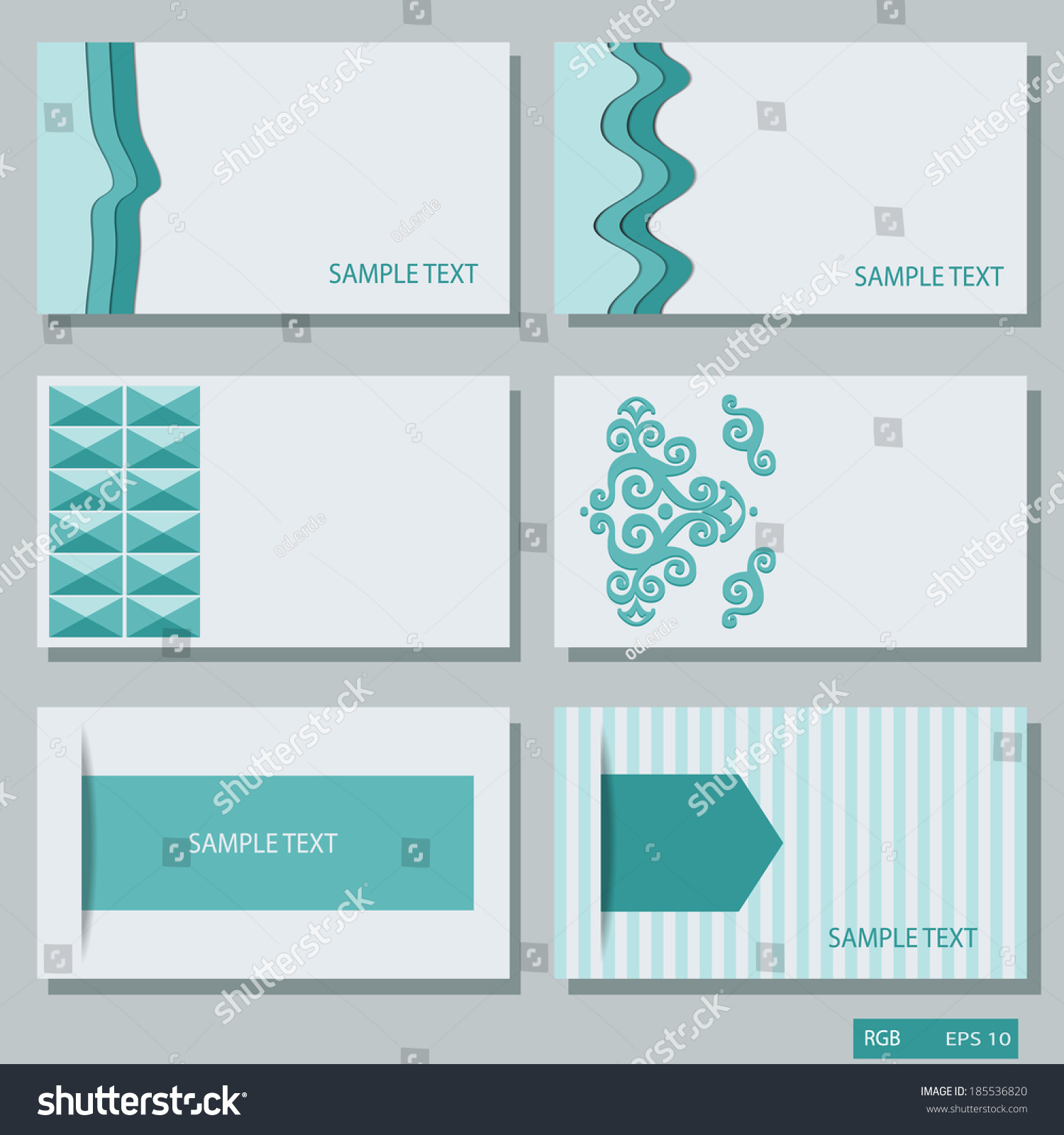 Business Cards Calling Card Vector Stock Vector Royalty Free
