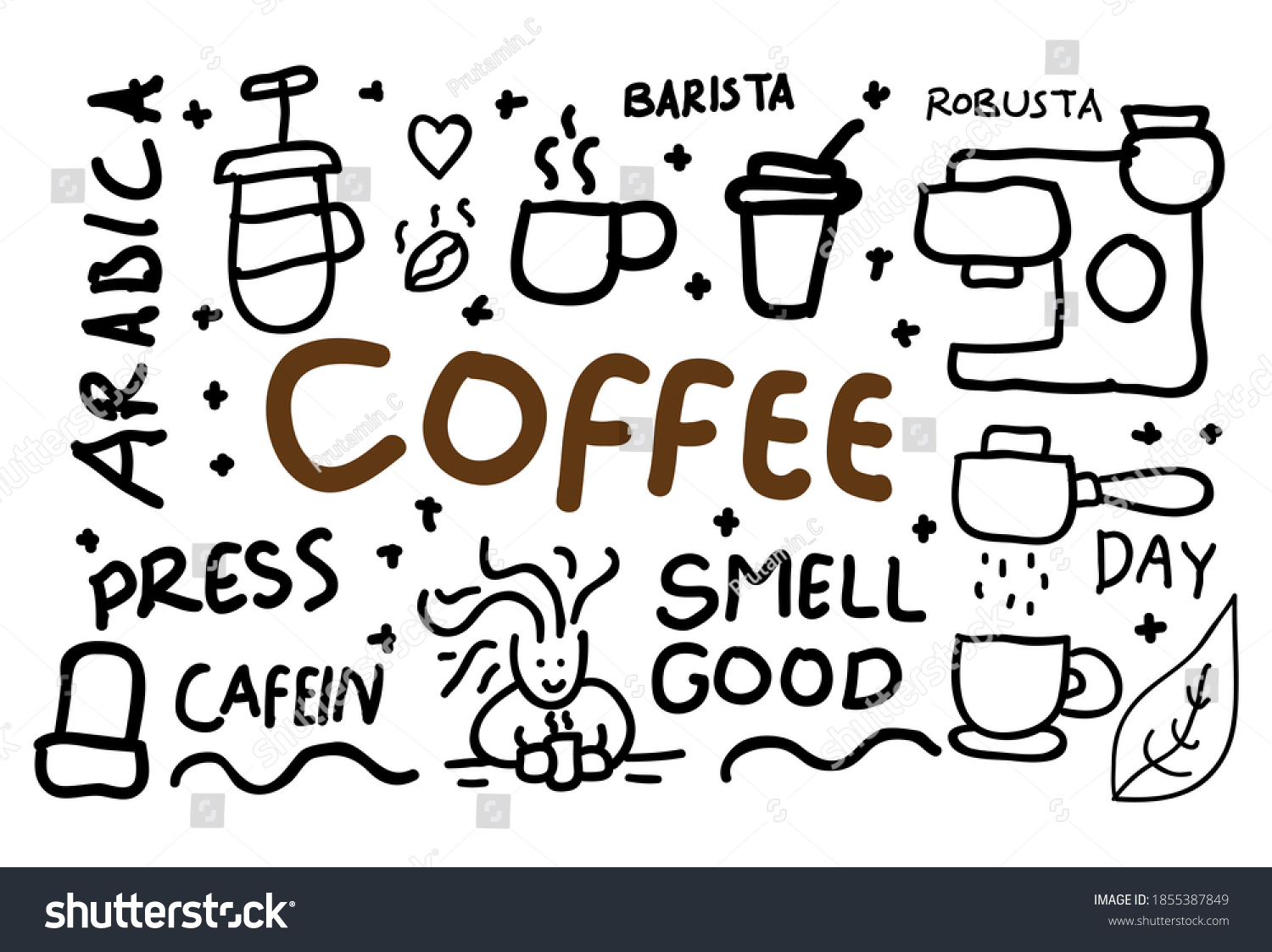 coffee concept doodle vector illustration