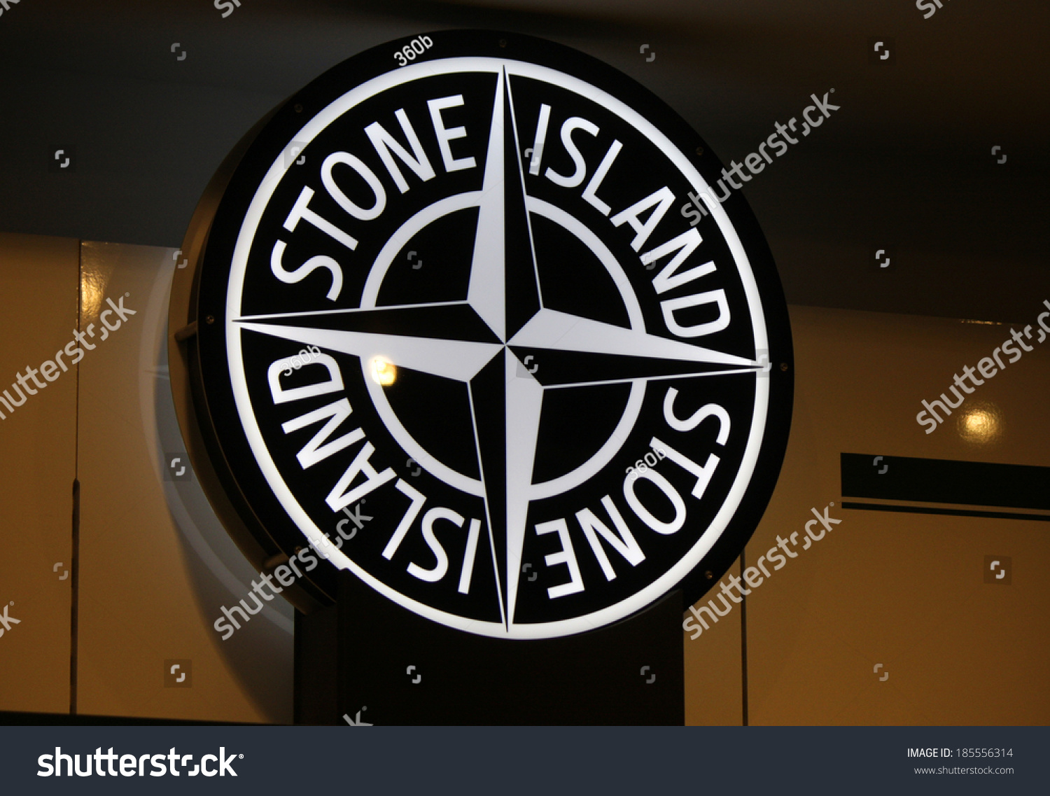 february 26 2014 berlin the logo of the brand stone island berlin stock photo 185556314. Black Bedroom Furniture Sets. Home Design Ideas