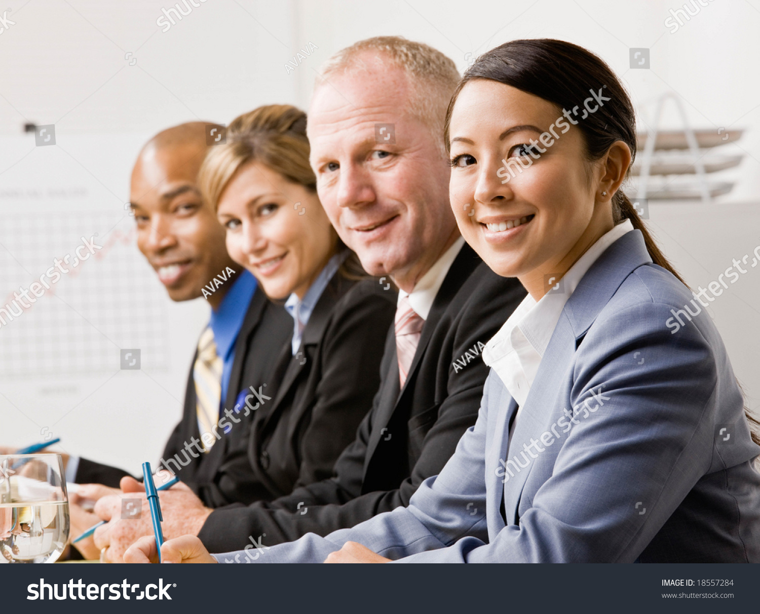 Pleasing Coworkers Listening During Meeting Conference Room Stock Home Interior And Landscaping Ponolsignezvosmurscom
