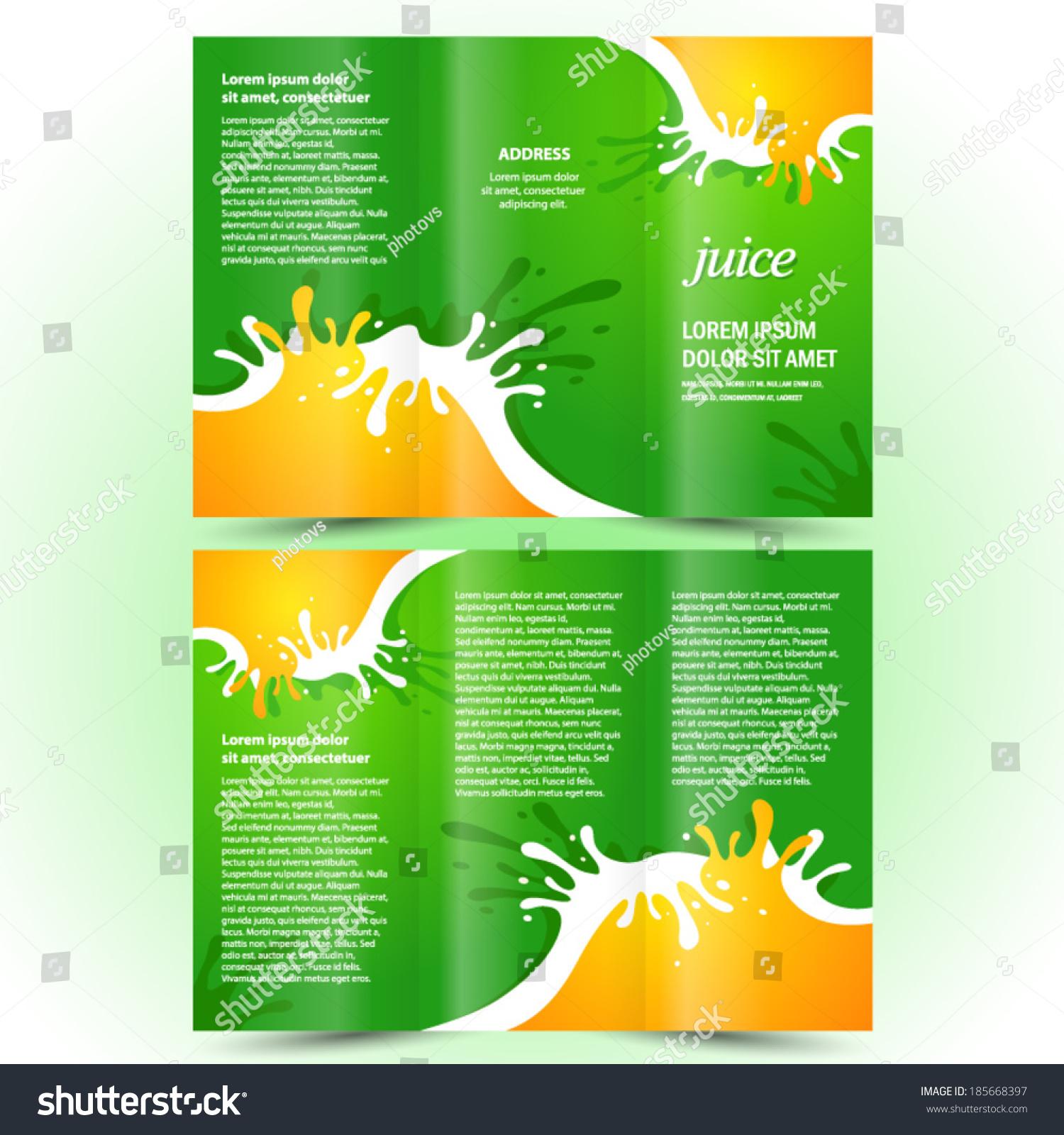 Juice Fruit Drops Liquid Orange Green Stock Vector 185668397 ...
