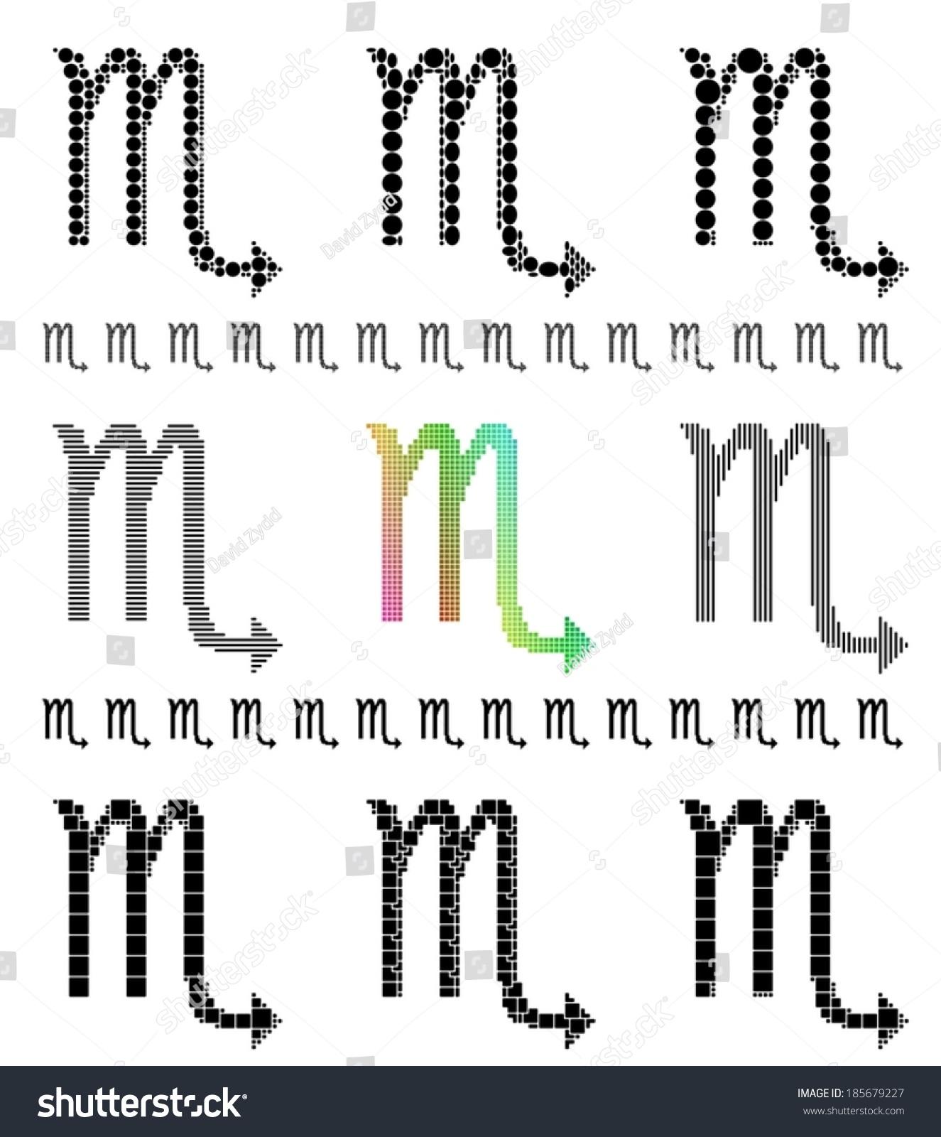 Zodiac sign mosaic set symbol scorpio stock vector 185679227 zodiac sign mosaic set symbol of scorpio the scorpion buycottarizona Image collections