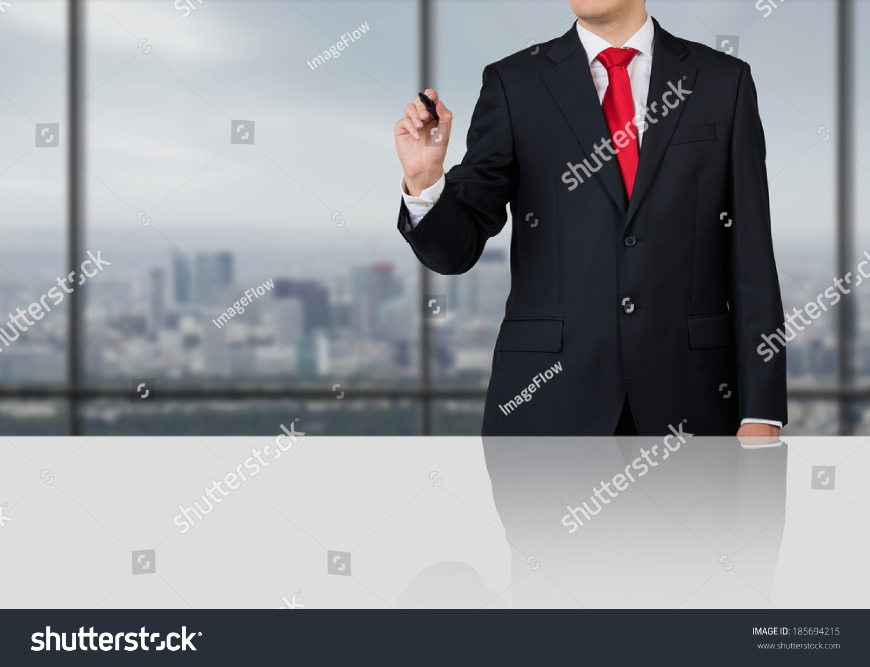 businessman business presentation stock photo 185694215 - shutterstock, Powerpoint templates