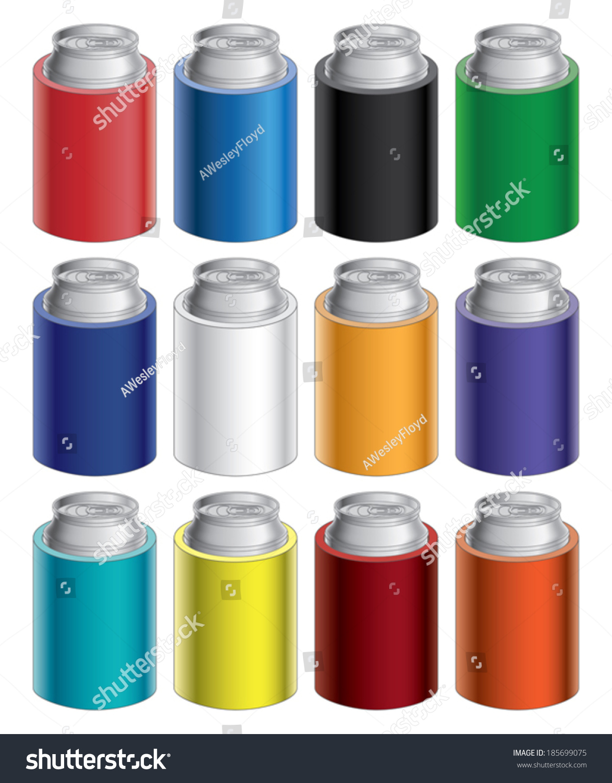 Koozies Or Can Coolers Is An Illustration Of Blank Koozie Cooler With Aluminum