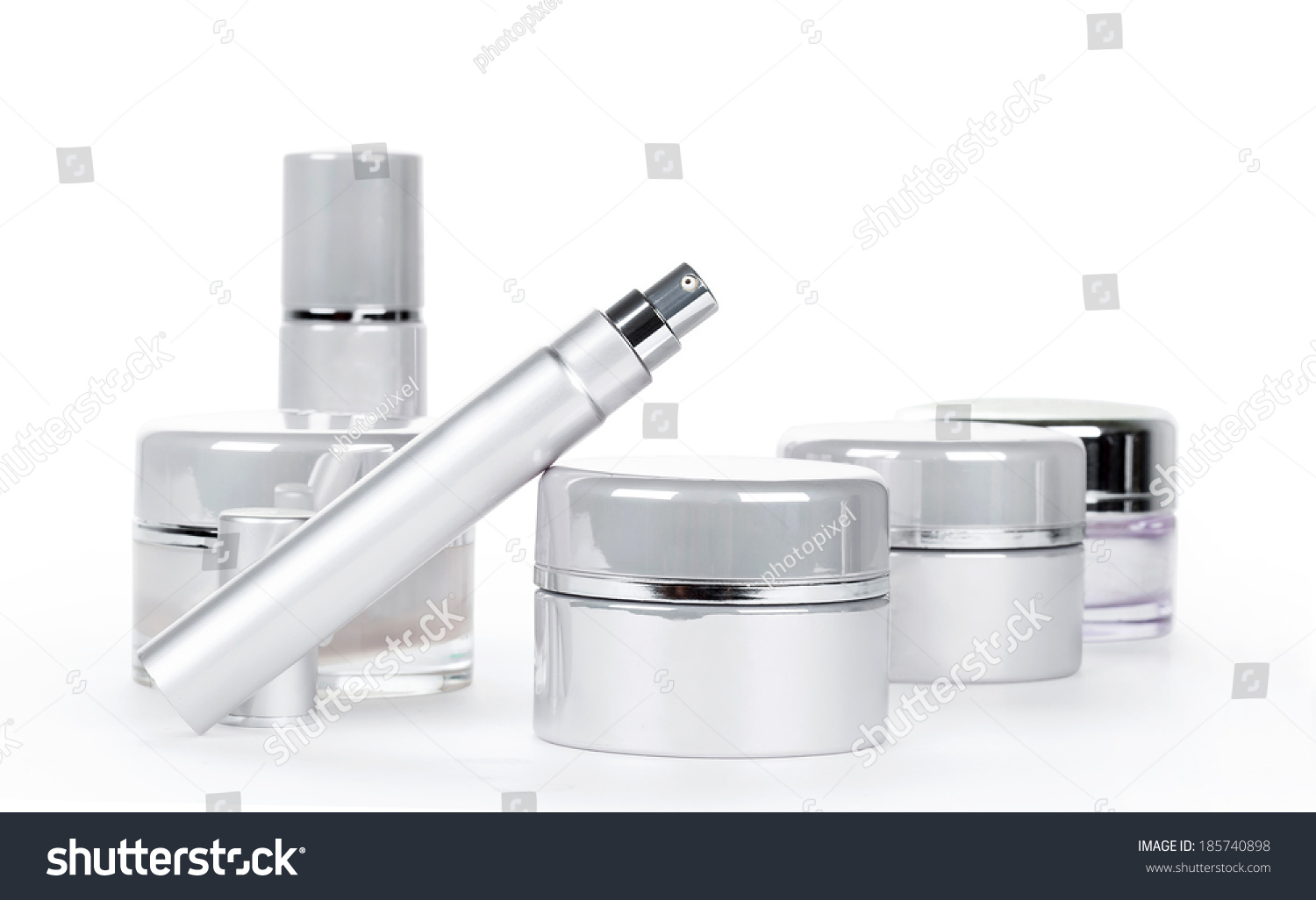 collection of skincare spa products beauty concept stock photo 185740898 shutterstock. Black Bedroom Furniture Sets. Home Design Ideas