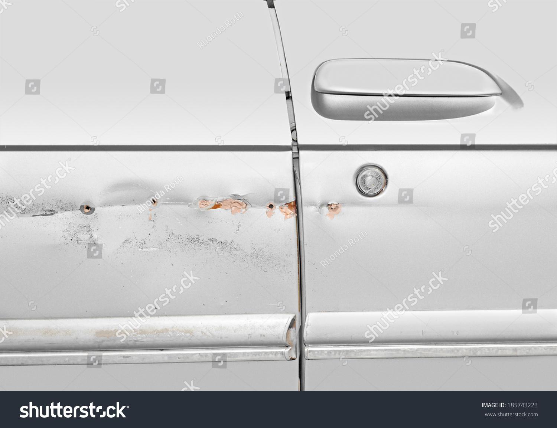 划痕漏洞需要和银色。仓鼠的车凹陷v划痕。汽车乘客小视频图片