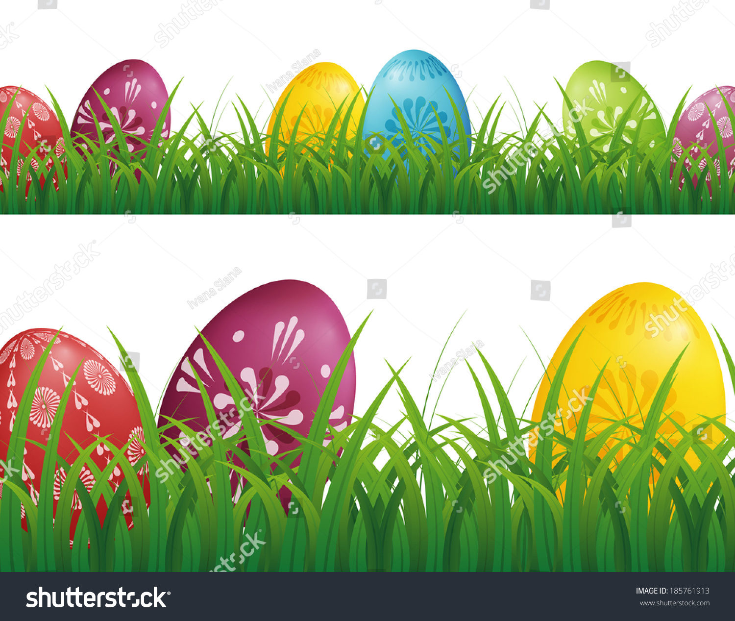 easter eggs hunt background with grass
