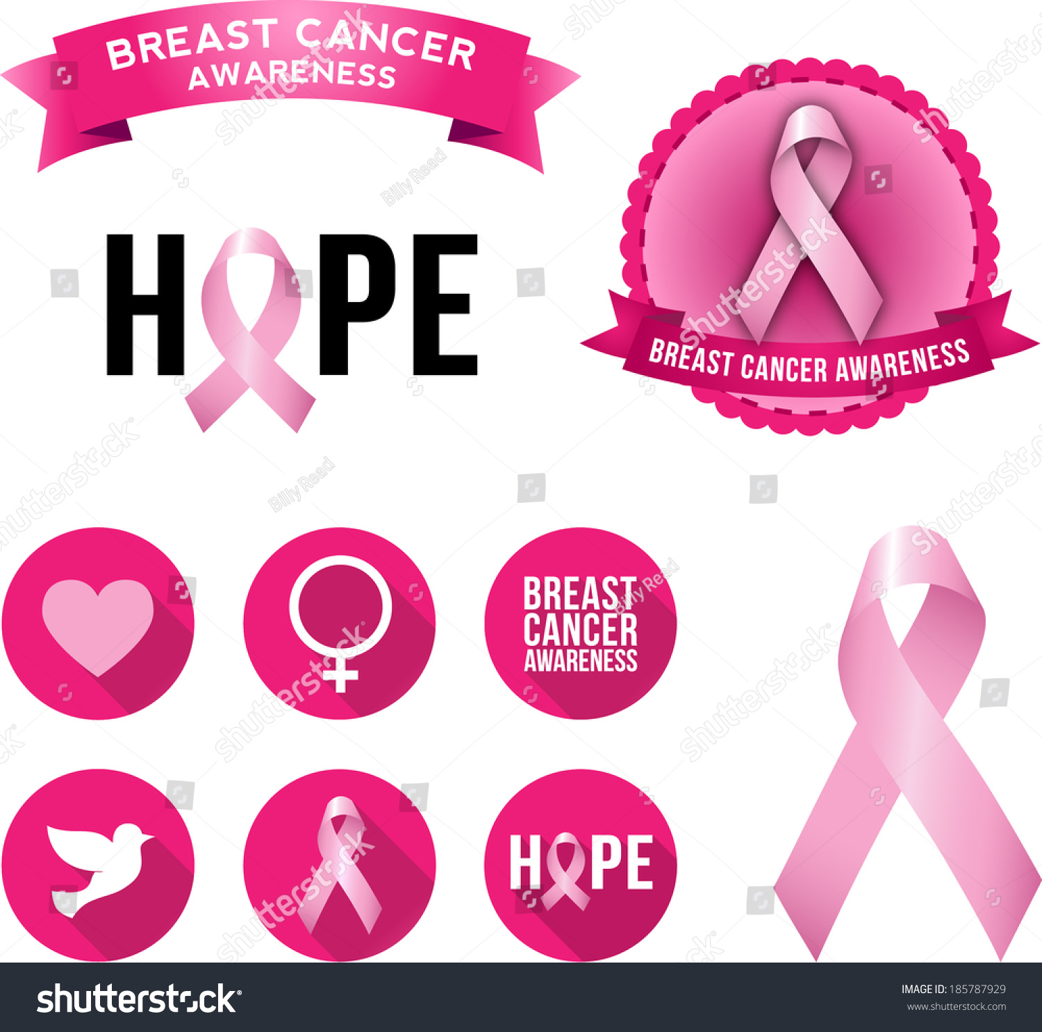 Breast cancer awareness icons Icons Creative Market