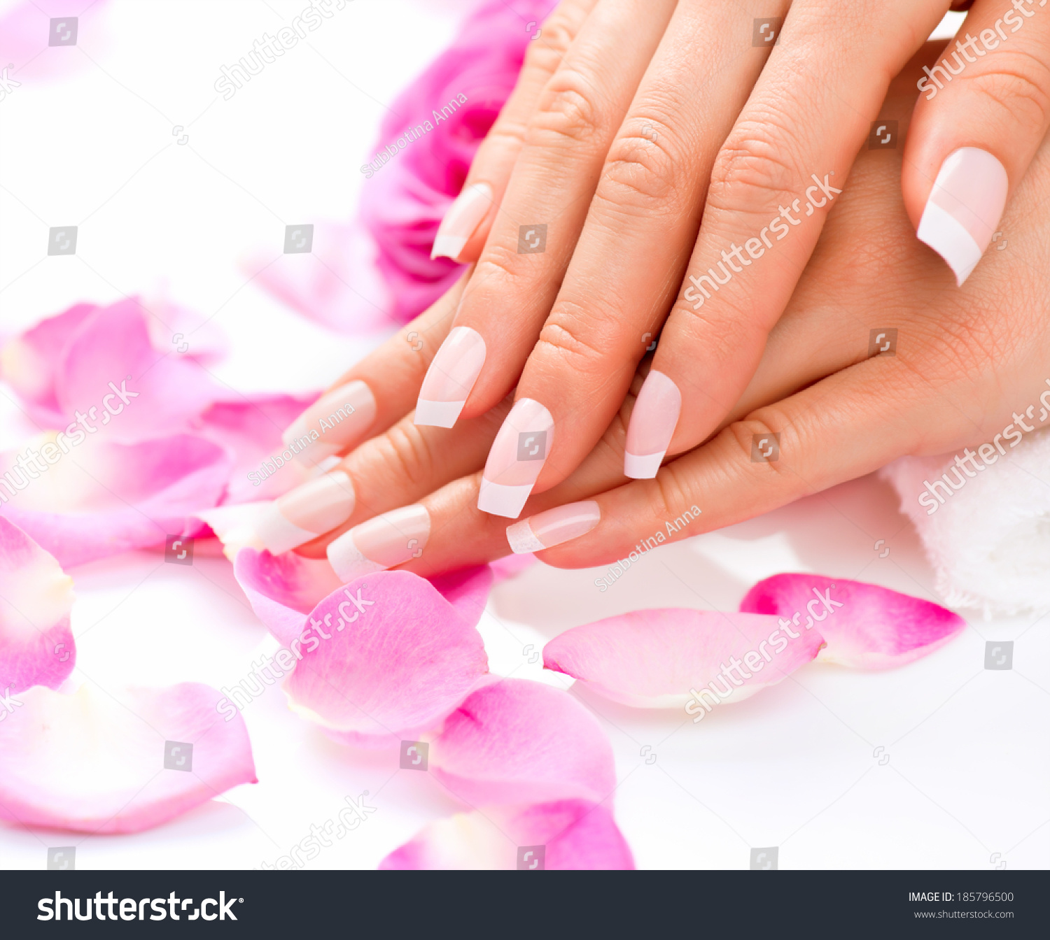 Manicure Hands Spa Beautiful Woman Hands Stock Photo (100% Legal ...