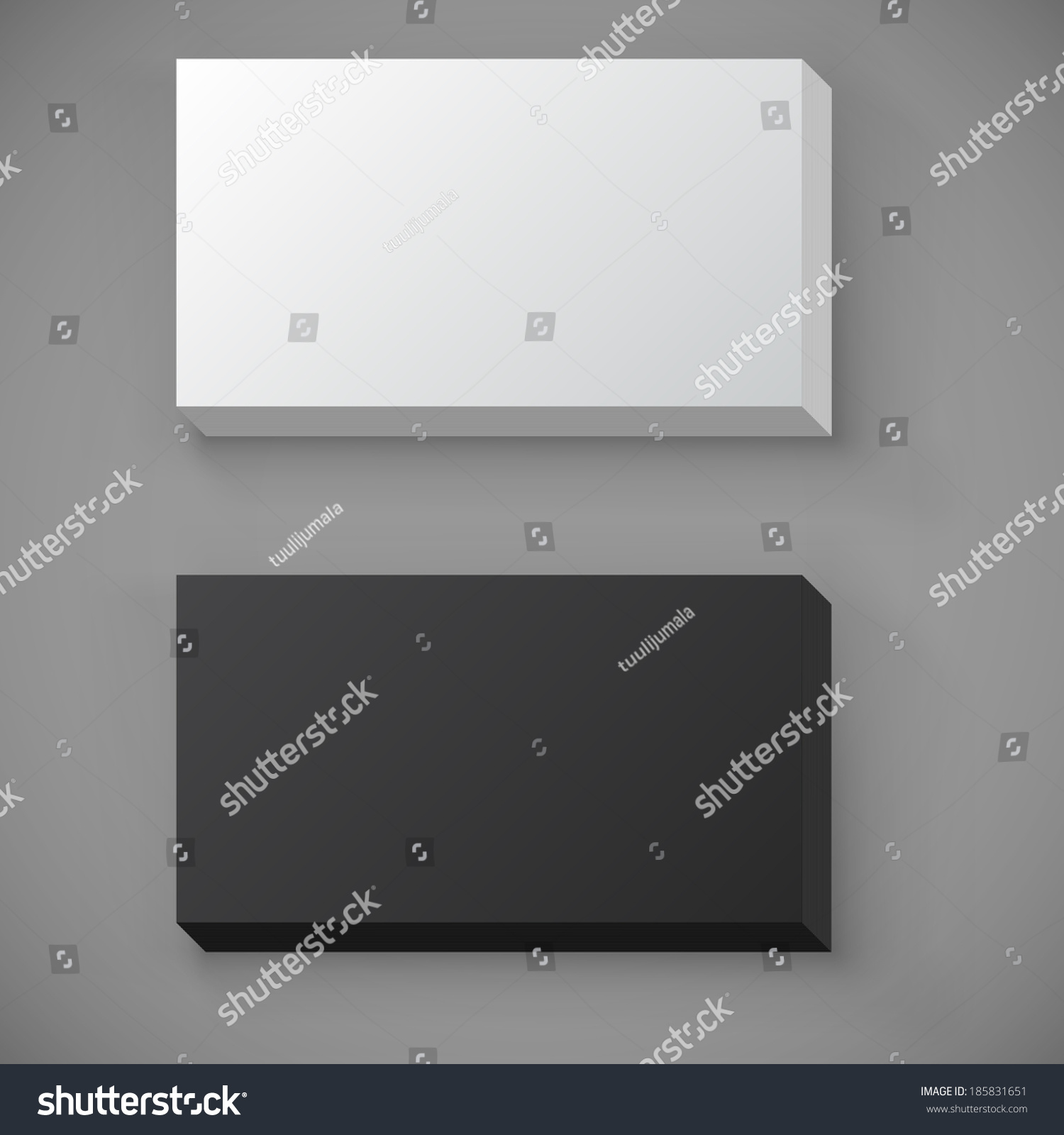 black white blank standard business card stock vector royalty free