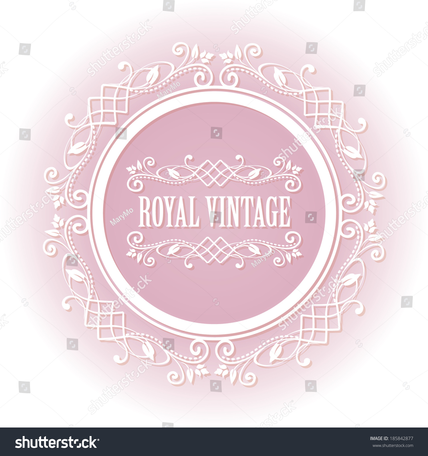 Vector round frame with pink flowers on white background in pastel - Soft Pink Floral Border Round Frame For Your Photo Or Sample Text Isolated On White Background