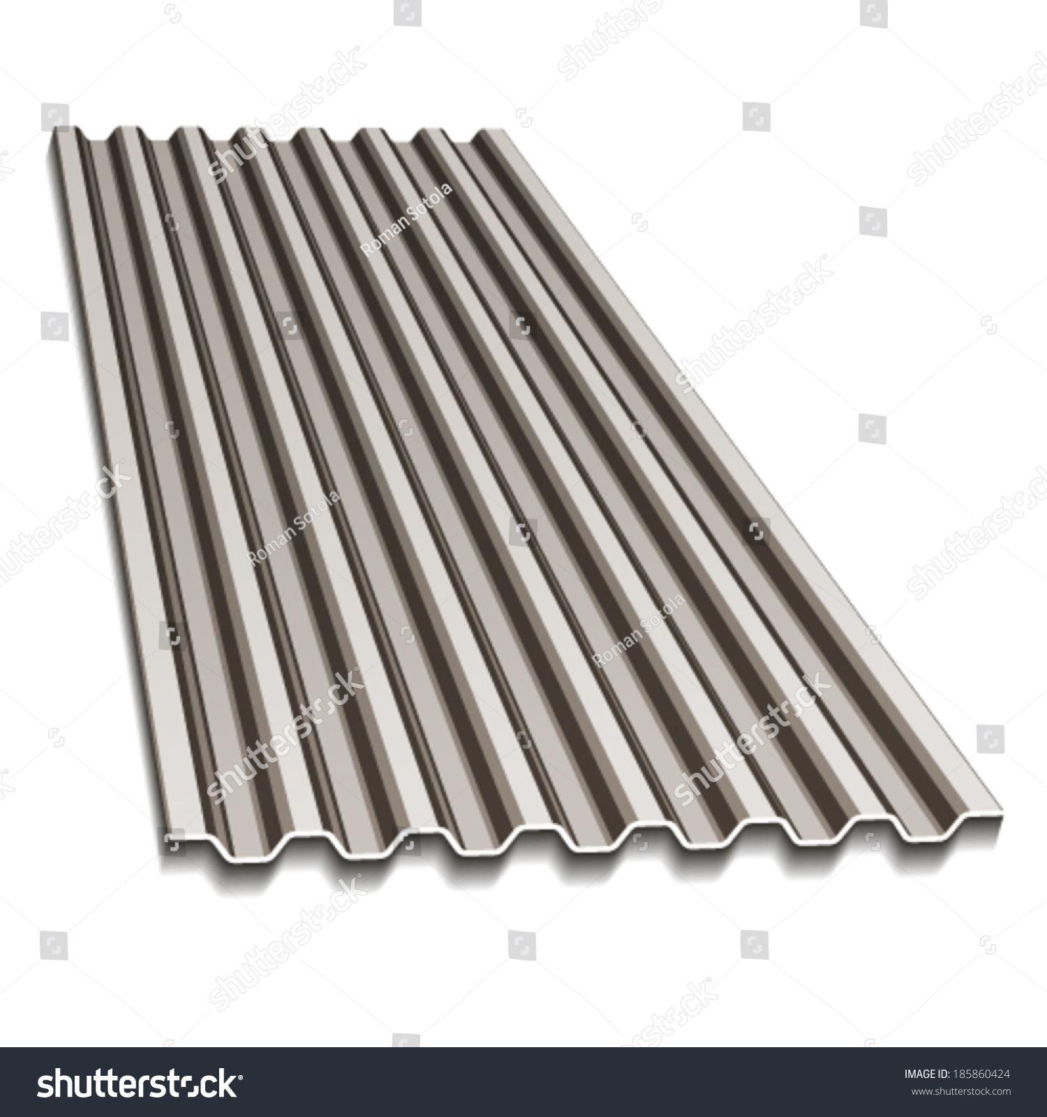 vector corrugated roofing sheet  sc 1 st  Shutterstock : corrogated roofing - memphite.com