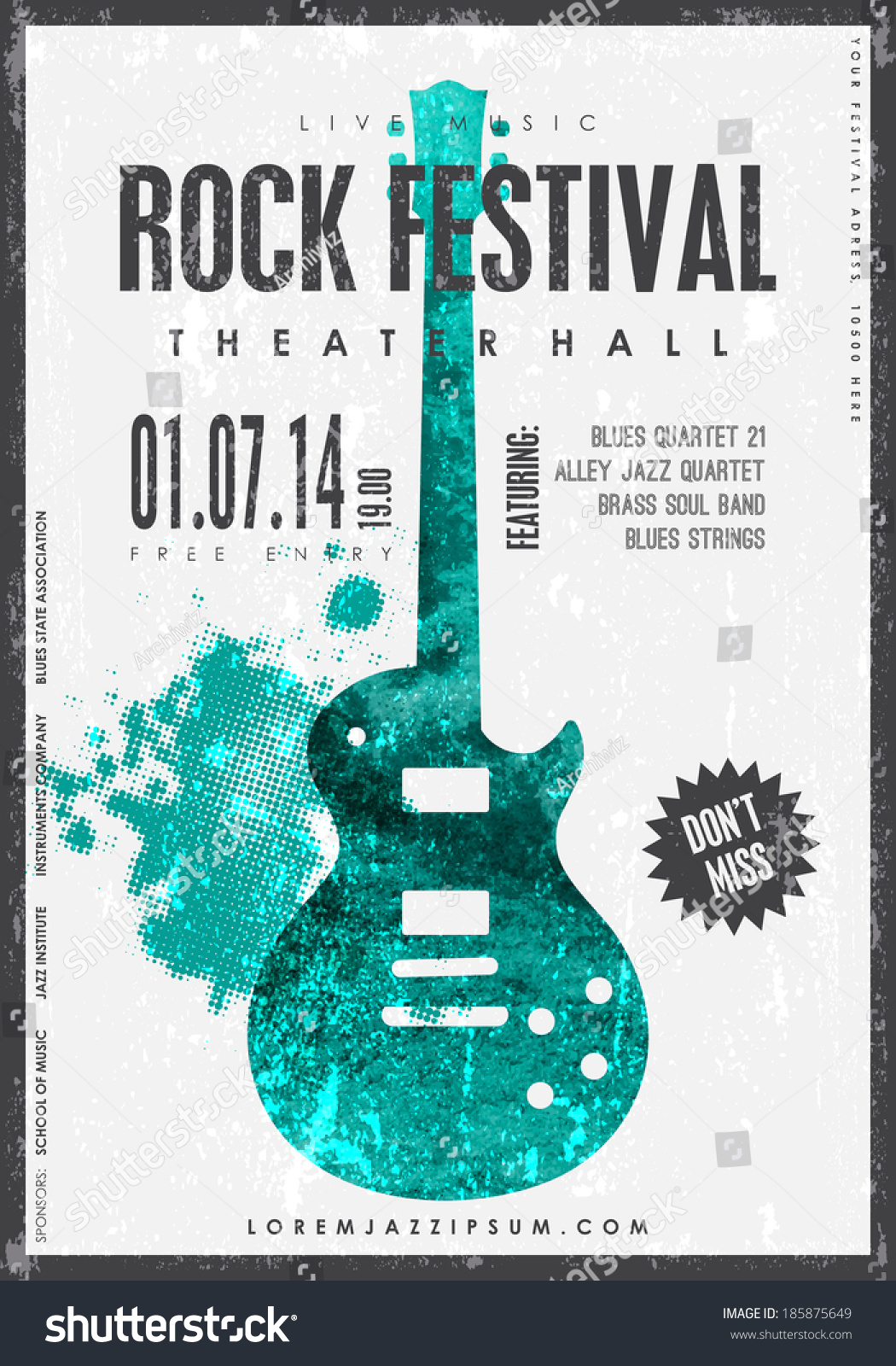 concert press release template - rock music poster background template texture stock vector