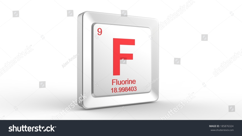 F Symbol 9 Material Fluorine Chemical Stock Illustration Royalty