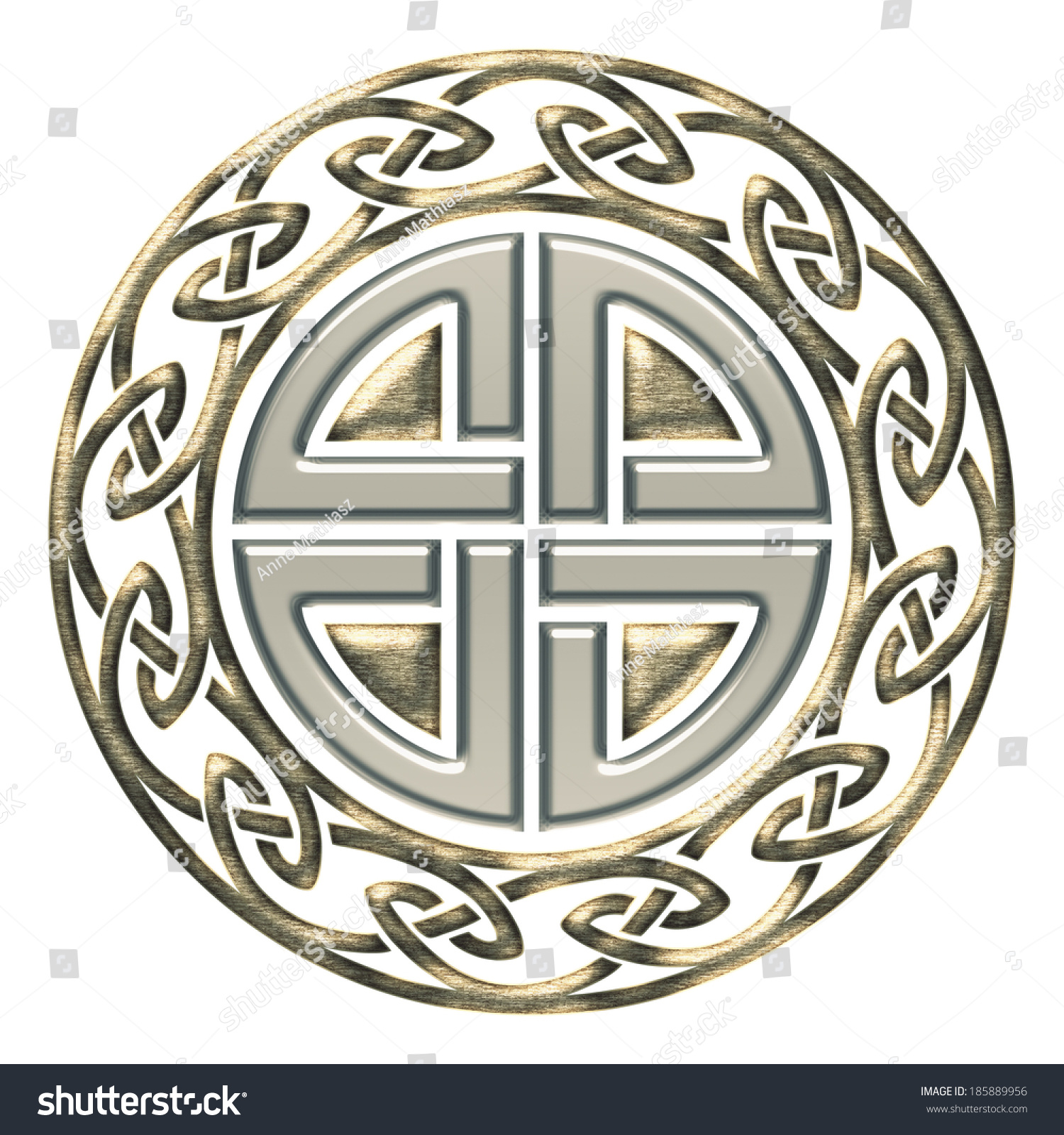 Thors Shield Knot Celtic Protection Symbol Stock Illustration