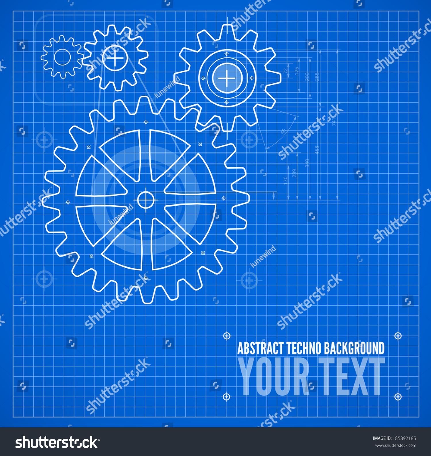 Technical blueprint template illustration on blue stock vector technical blueprint template illustration on blue vector background malvernweather Image collections