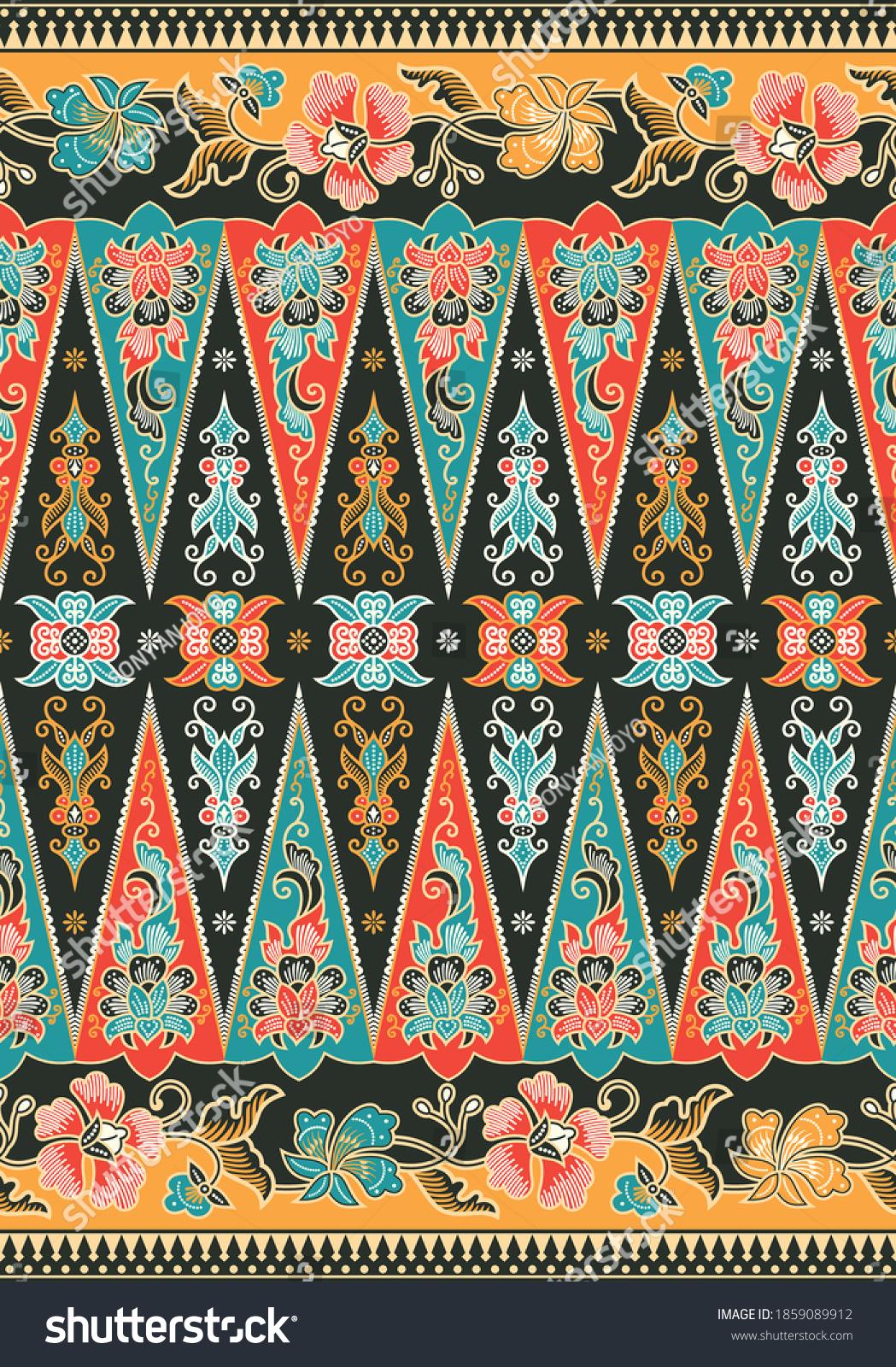 Batik Indonesia Betawi Terogong Jakarta Stock Vector Royalty Free 1859089912