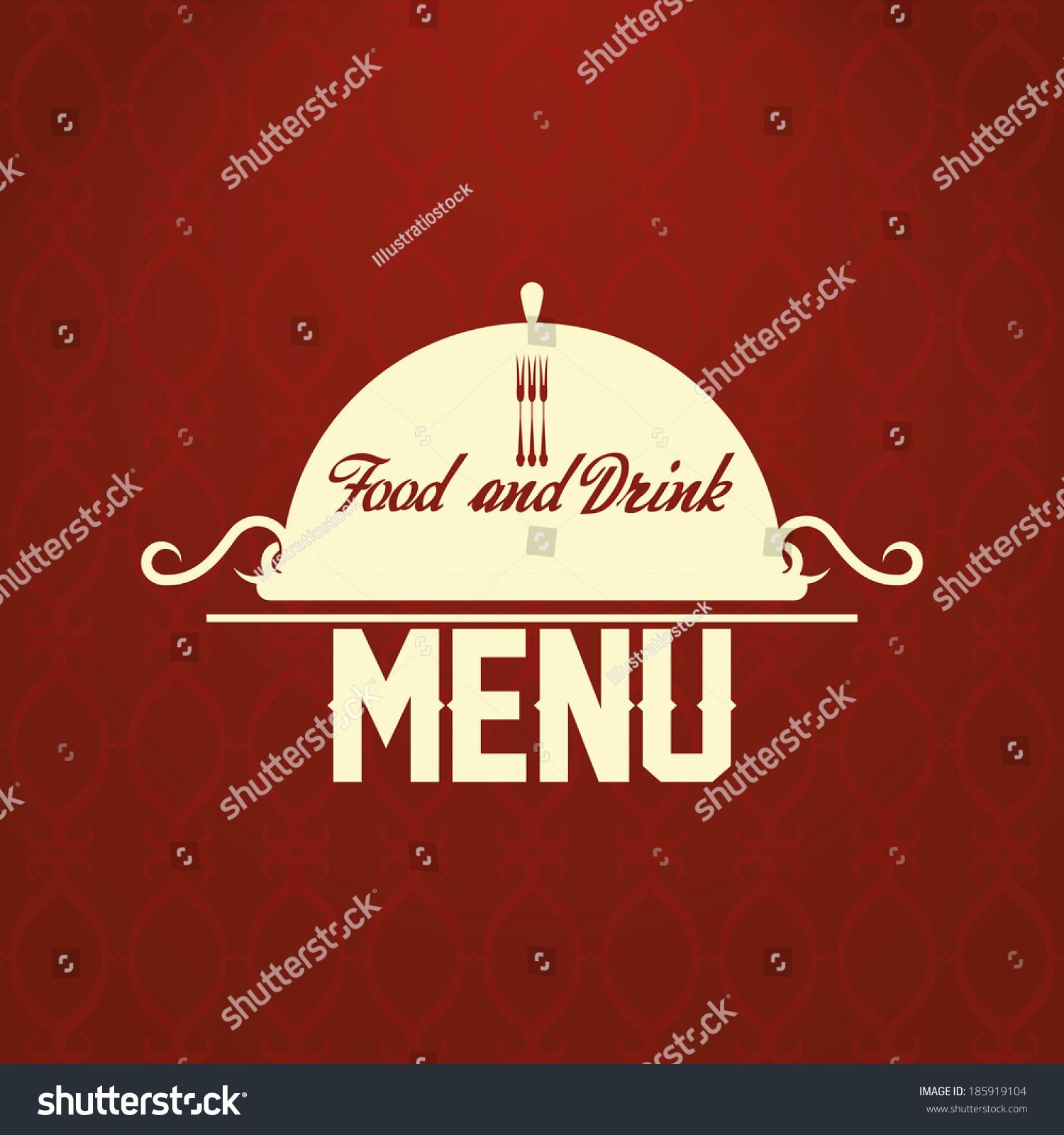 vector restaurant menu card design template stock vector 185919104