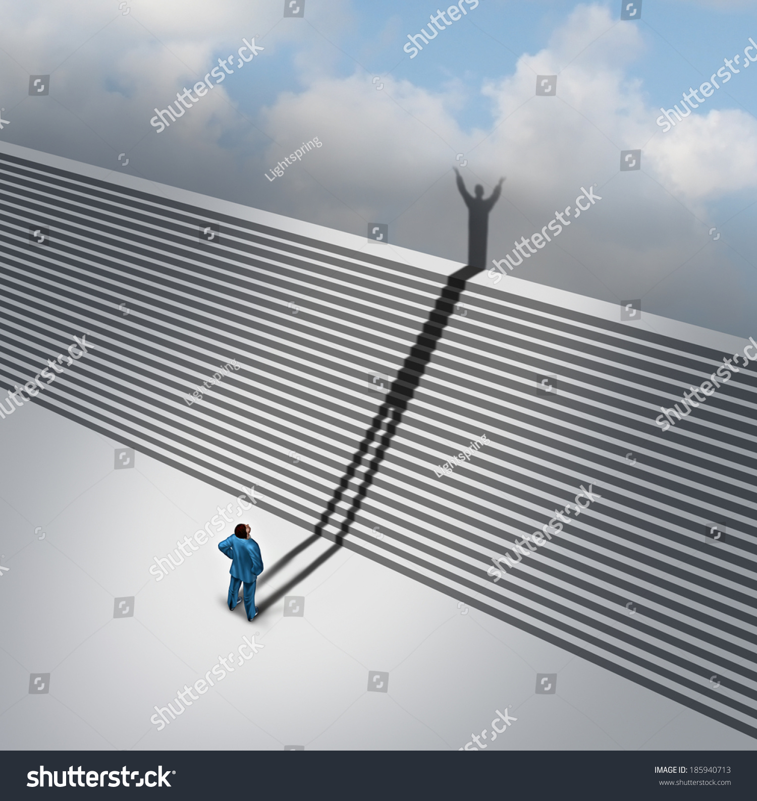 climbing stairs stairway concept cast shadow stock illustration climbing stairs stairway concept as a cast shadow of a businessman climbs the ladder of success