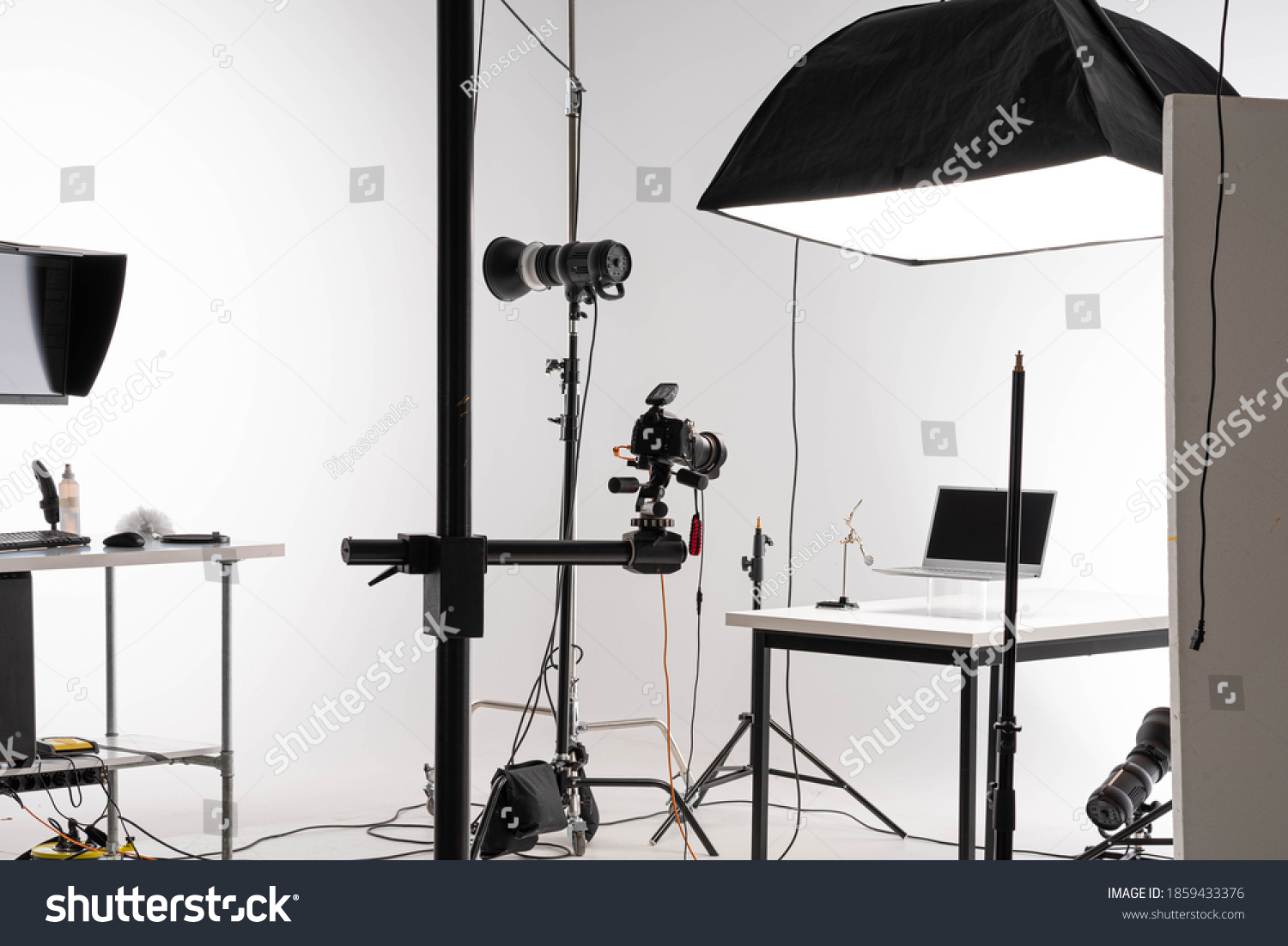 scene of Product photography session in professional photostudio #1859433376