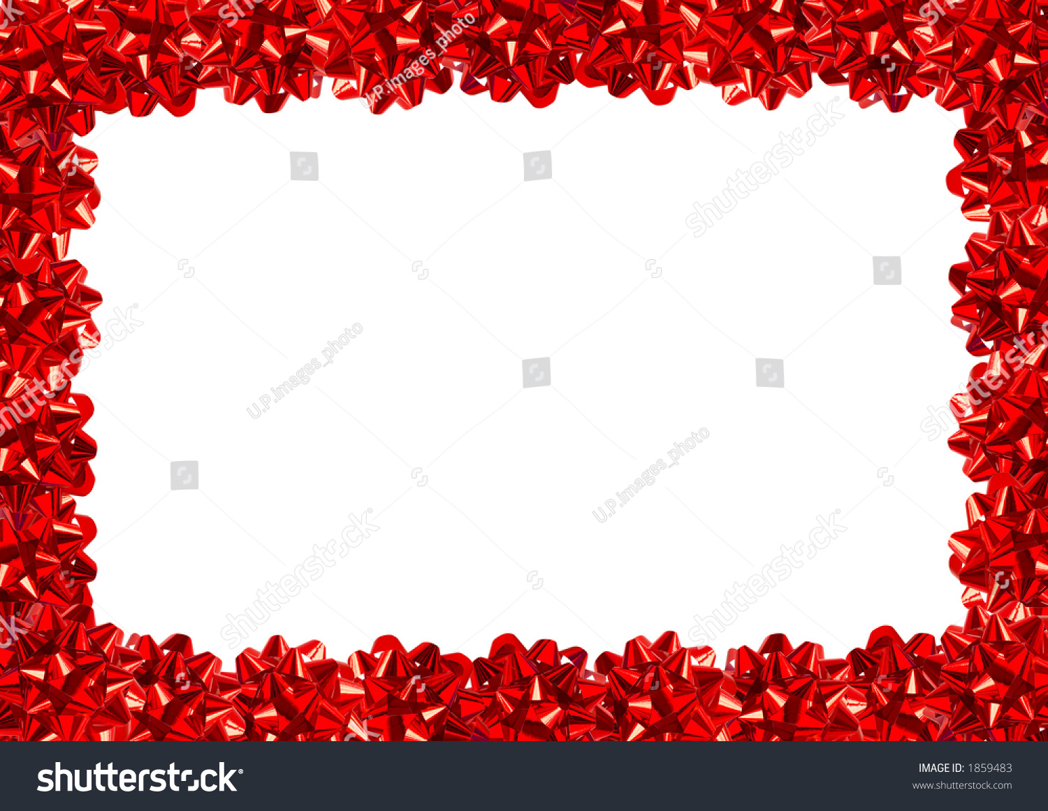 Red gift bows border with clipping path for easy background removing - Red Gift Bows Border With Clipping Path For Easy Background Removing Preview Save To A Lightbox