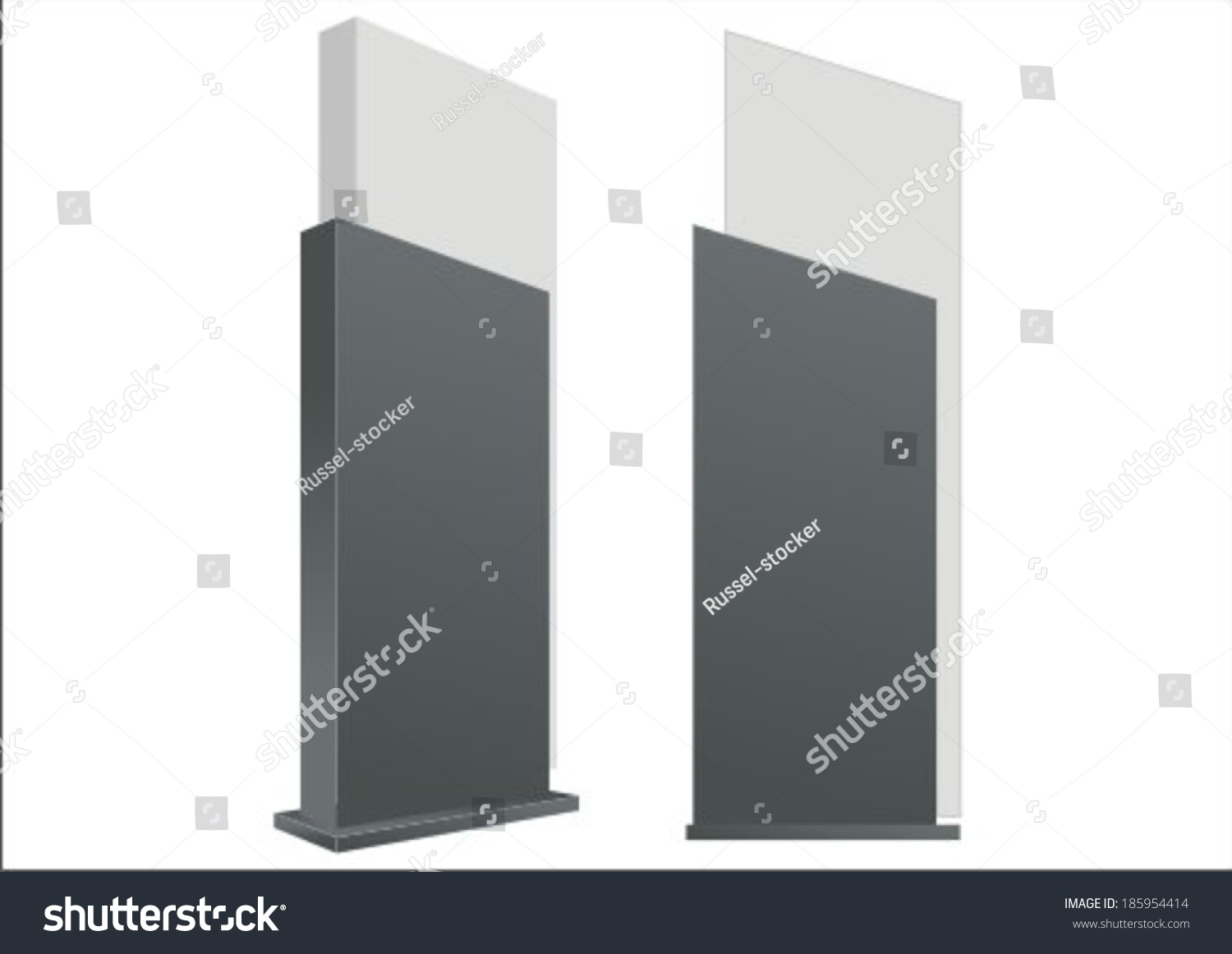 Outdoor Exhibition Stand Design : Vector pylon sign signage construction blank stock