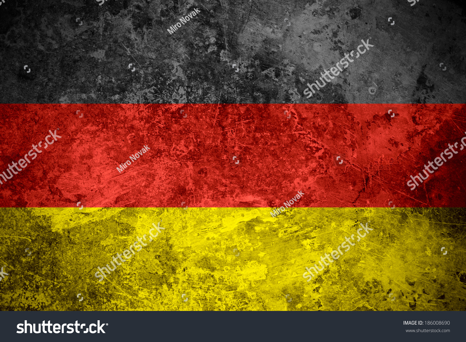 flag of germany or german banner on vintage metal texture ez canvas