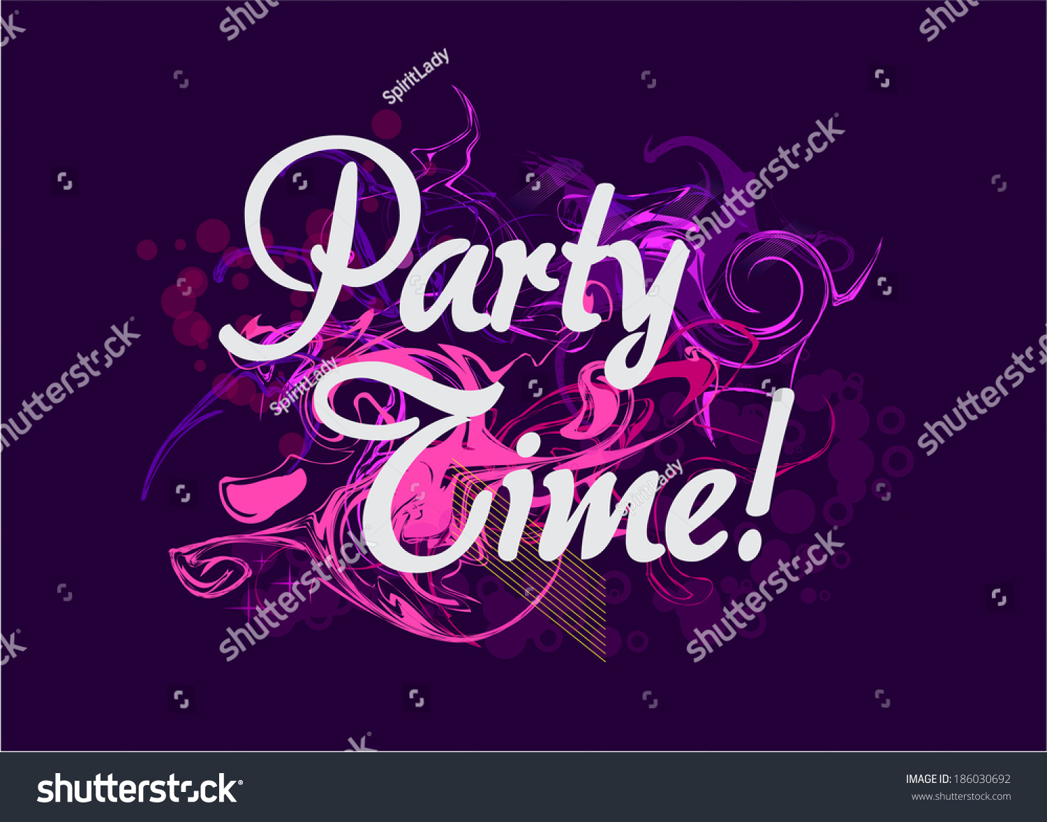 Party Time Background Vector Music Poster Stock Vector ...