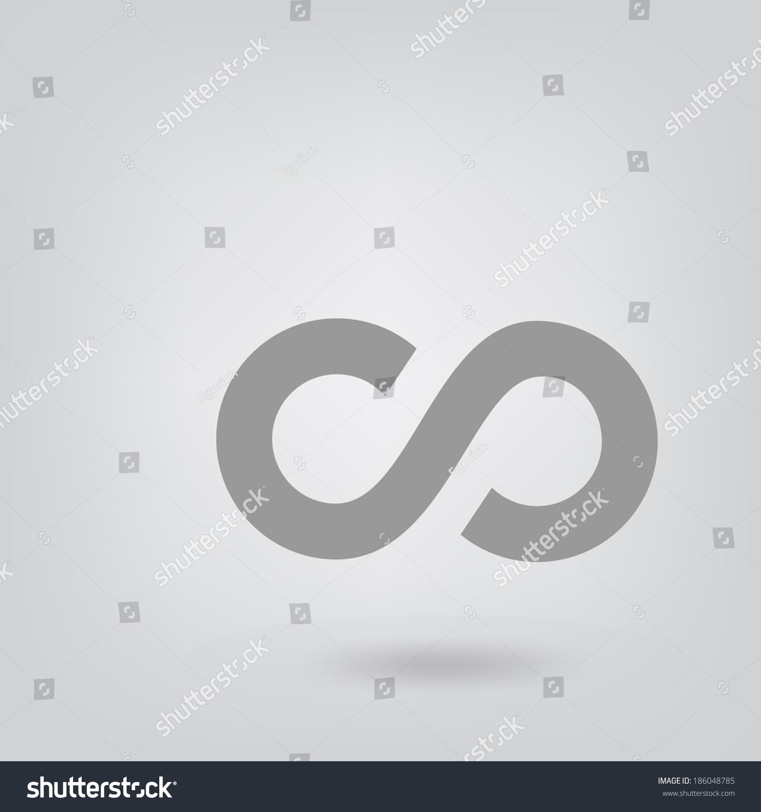 Infinity symbol stock vector 186048785 shutterstock infinity symbol biocorpaavc Gallery