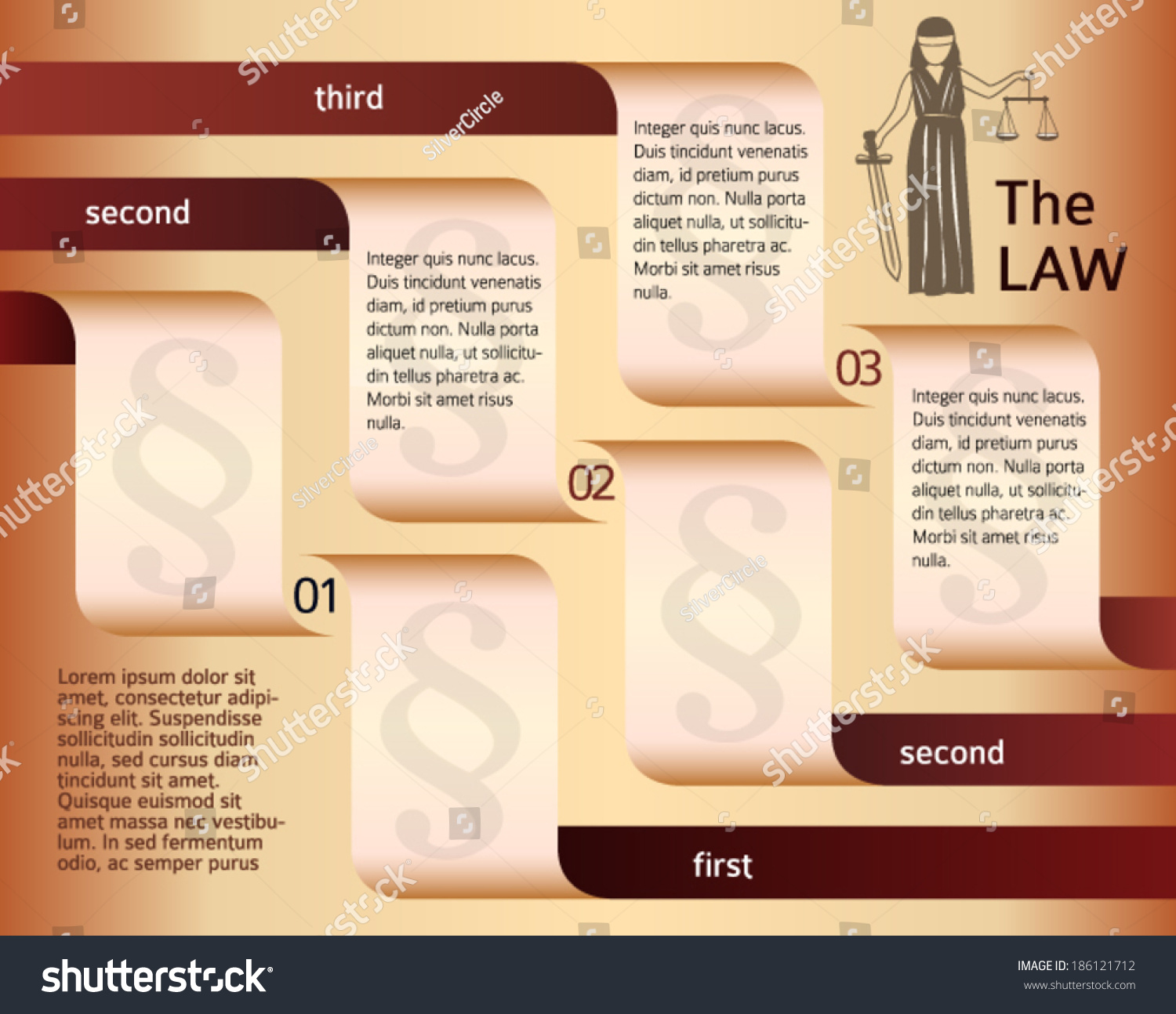 Modern Design Style Infographic Legal Law Stock Vector - Law firm brochure template