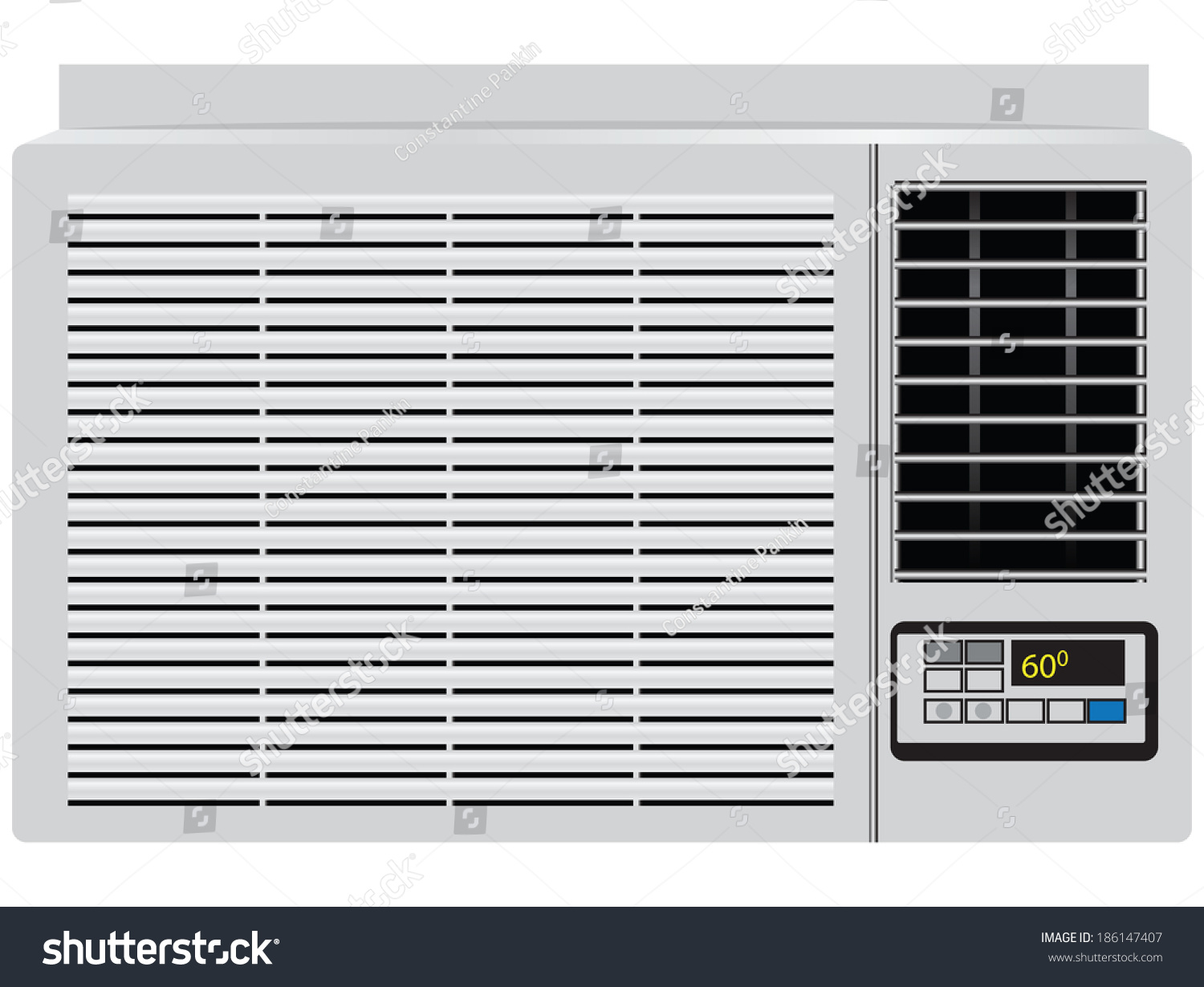 Appliance Built Window Air Conditioner Vector Stock Vector 186147407  #0C76BF