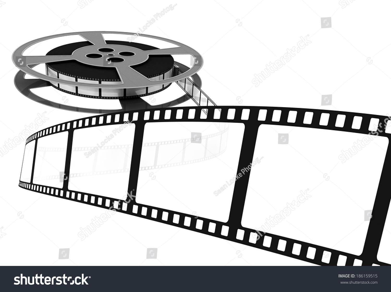 Movie Film Coming Off Reel Blank Stock Illustration 186159515 ...