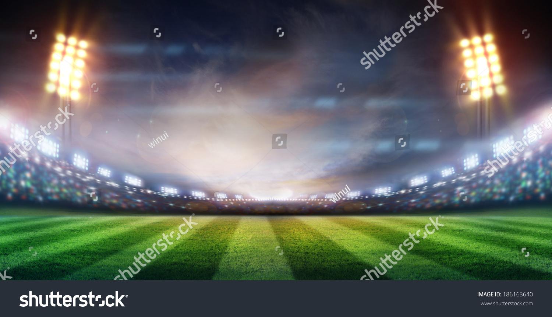 lights at night and stadium #186163640