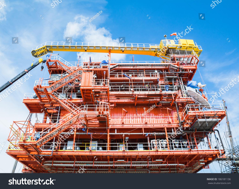 Oil Gas Construction Platform Stock Photo (Edit Now) 186181136