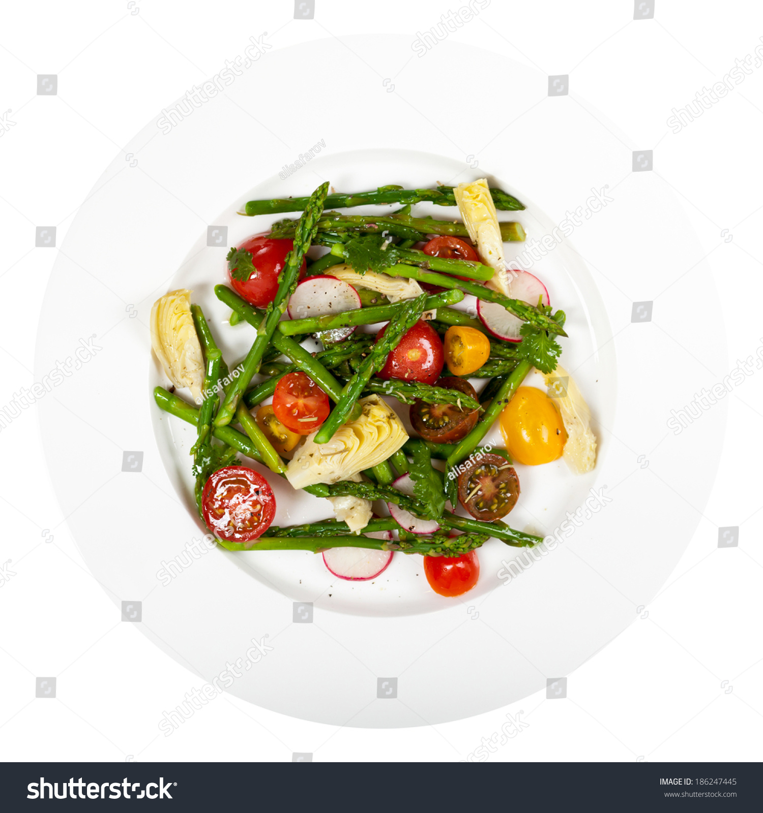 Roasted Asparagus Artichoke Salad Stock Photo 186247445 - Shutterstock