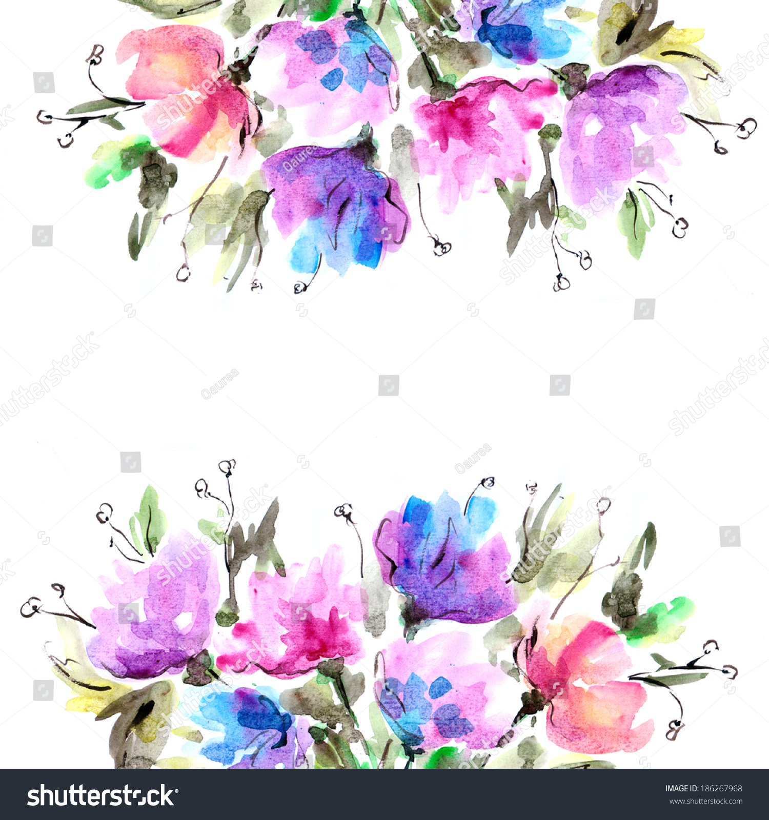 ... Floral Background. Birthday Card. Stock Photo 186267968 : Shutterstock