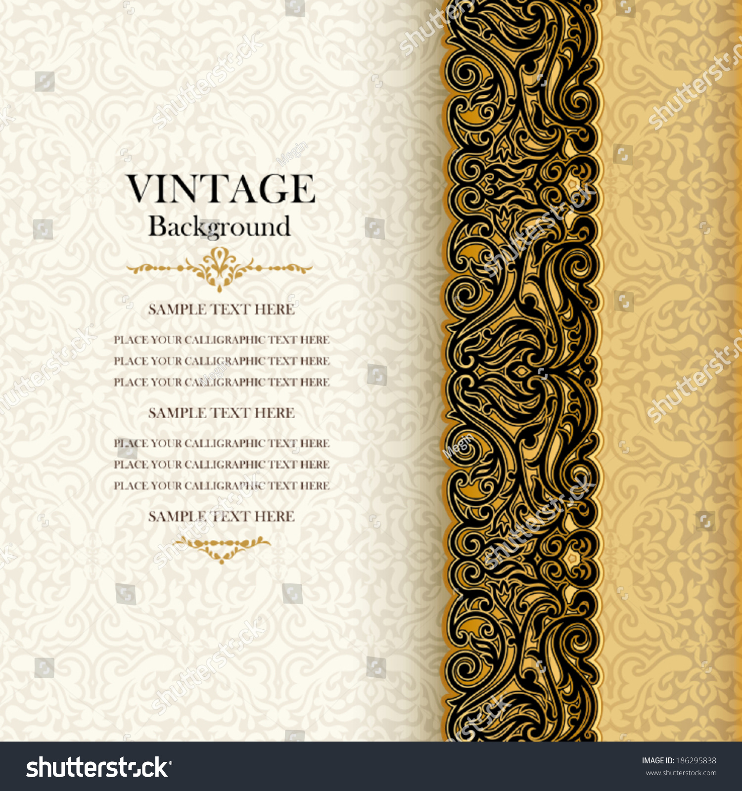 vintage background antique invitation card royal stock vector vintage background antique invitation card royal greeting lace and floral or nt beautiful