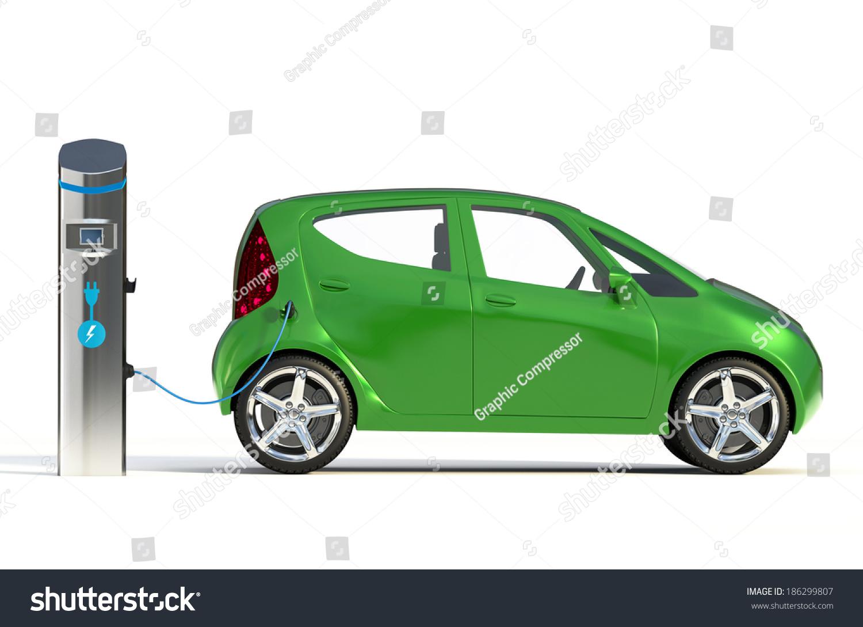 Electric Vehicle Charging Station Ii Go Stock Illustration