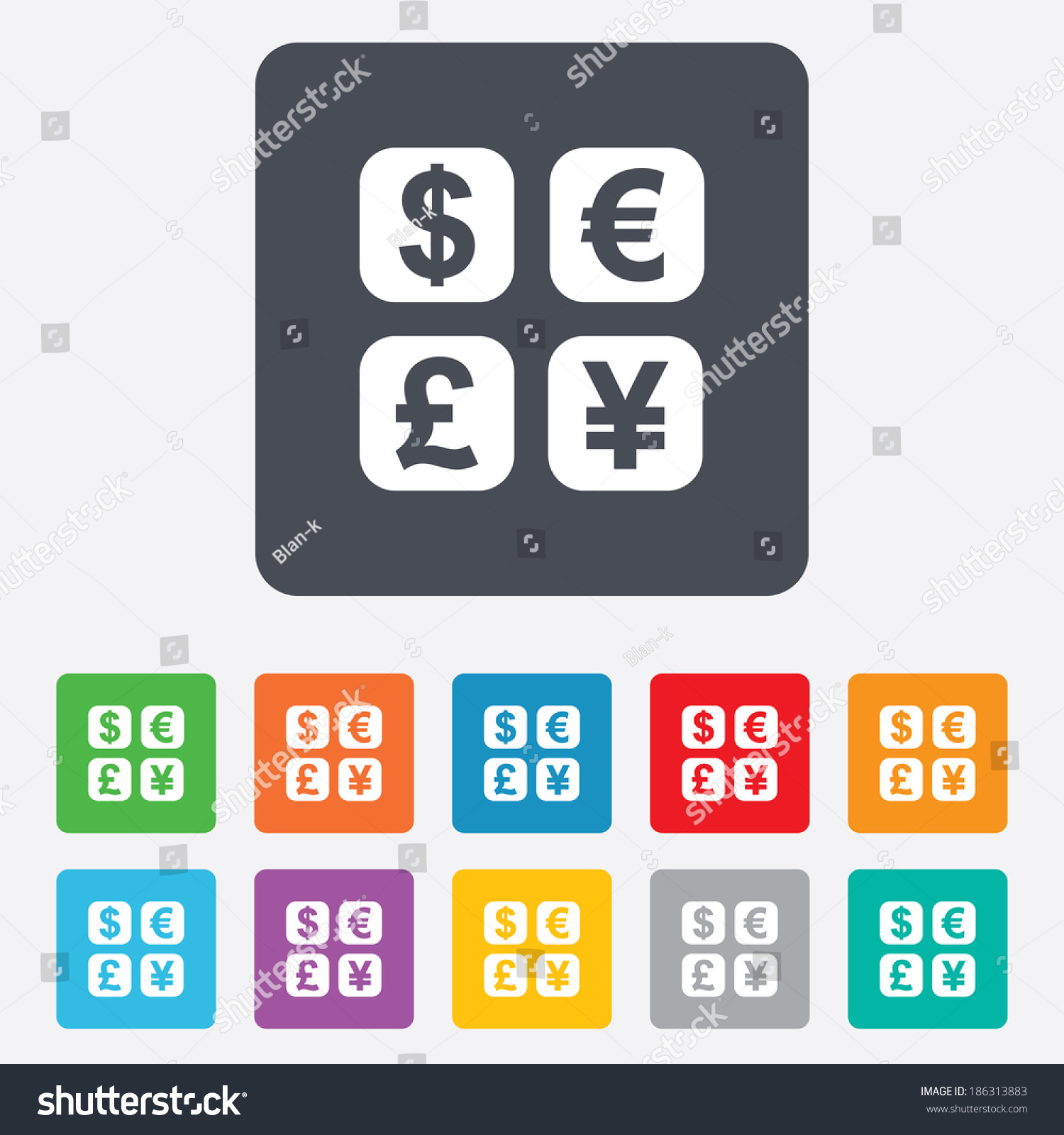 Currency exchange sign icon currency converter stock vector currency exchange sign icon currency converter symbol money label rounded squares 11 buttons biocorpaavc Gallery