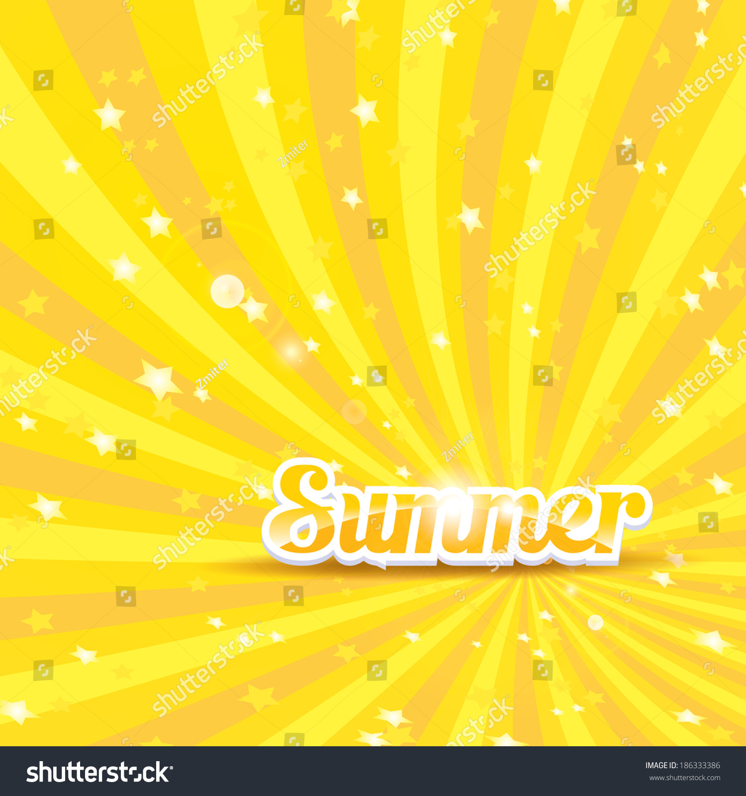Background image word - Abstract Summer Vector Rays Background With Word Summer Summer Grunge Shiny Illustration